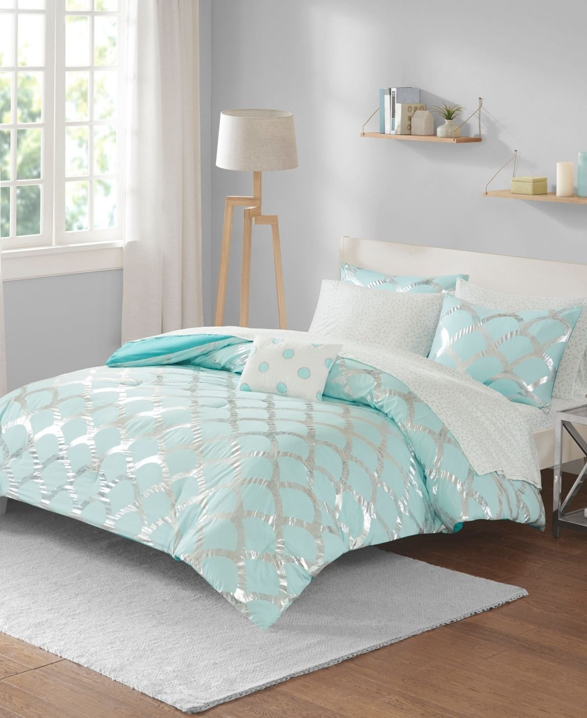 Gray and Aqua Bedroom Lovely Pin On Products