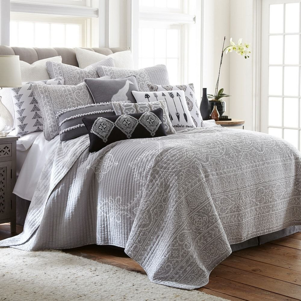 Gray and Aqua Bedroom Unique Levtex Carlisle Quilt Set Grey Twin