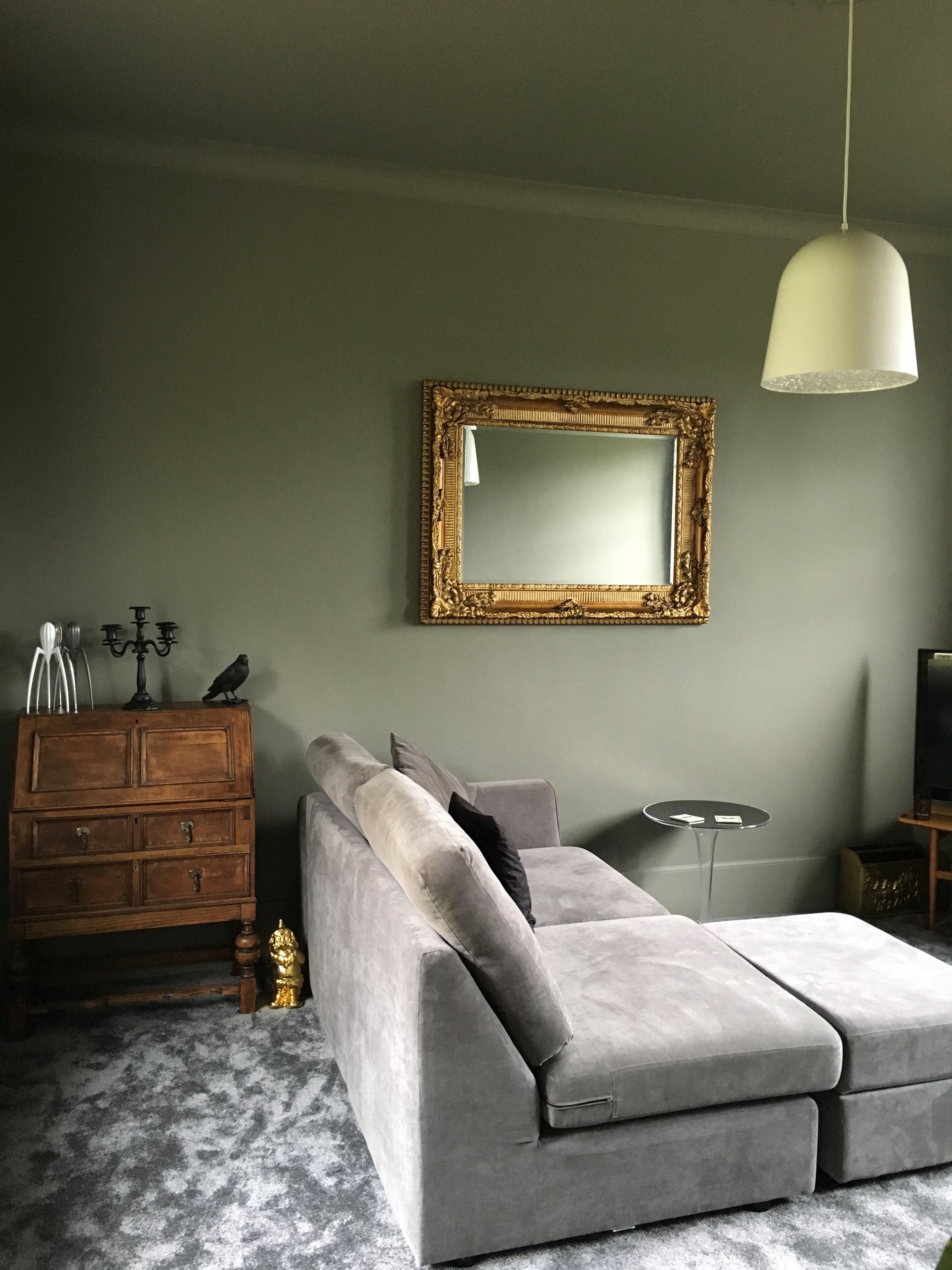 Gray and Brown Bedroom Lovely Little Greene Grey Moss
