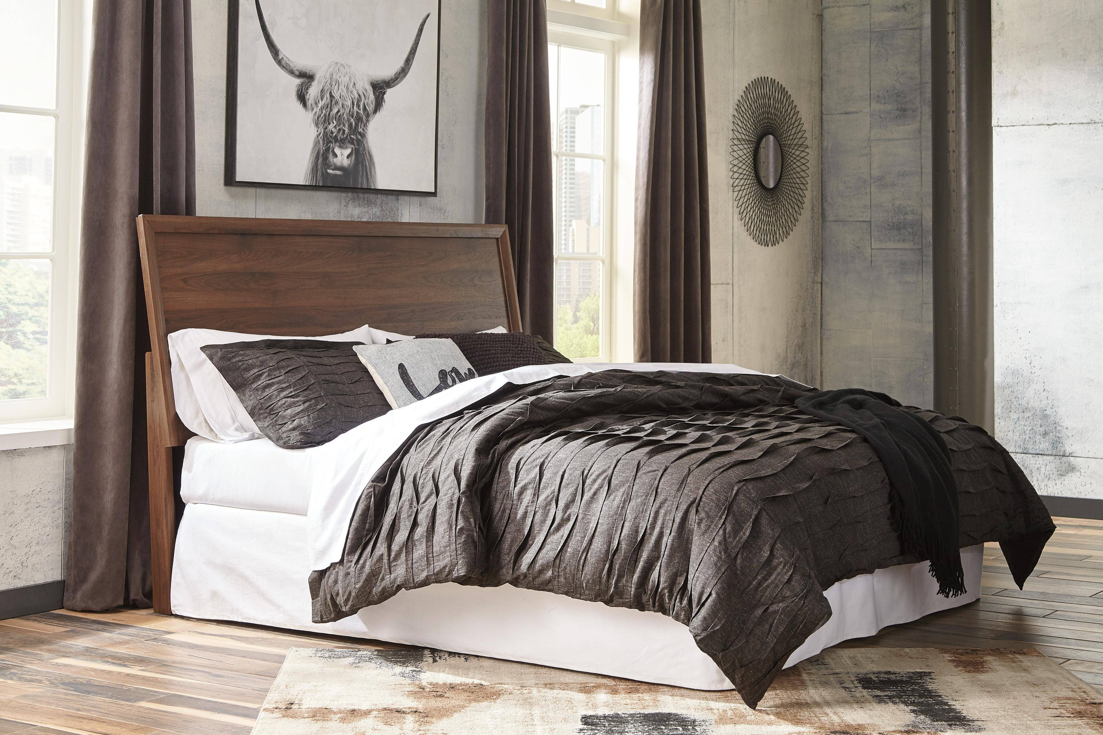 Gray and Brown Bedroom Unique ashley Daneston B292 King Size Panel Bedroom Set 6pcs In