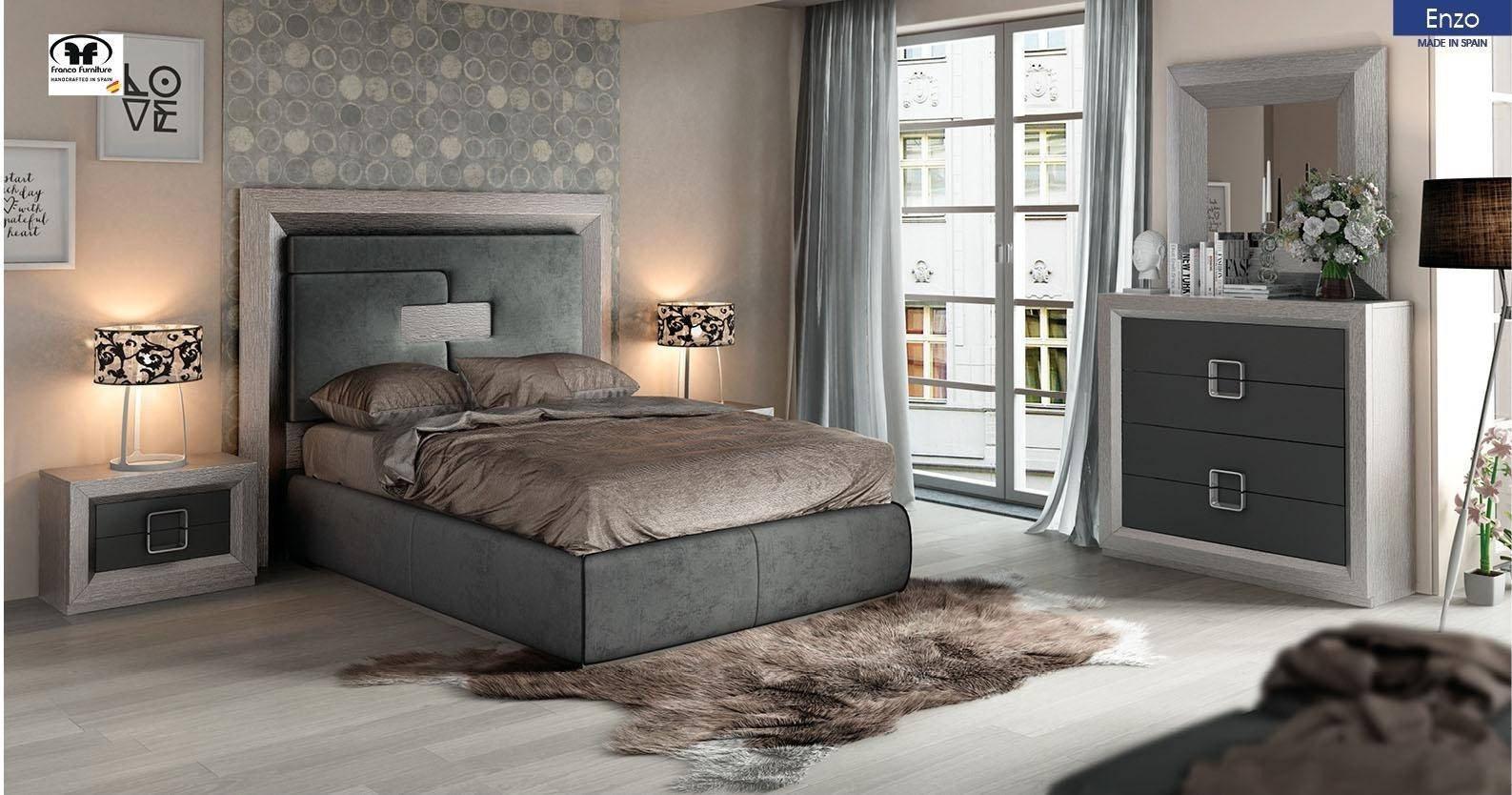 Gray King Bedroom Set Fresh Esf Enzo King Platform Bedroom Set 5 Pcs In Gray Fabric