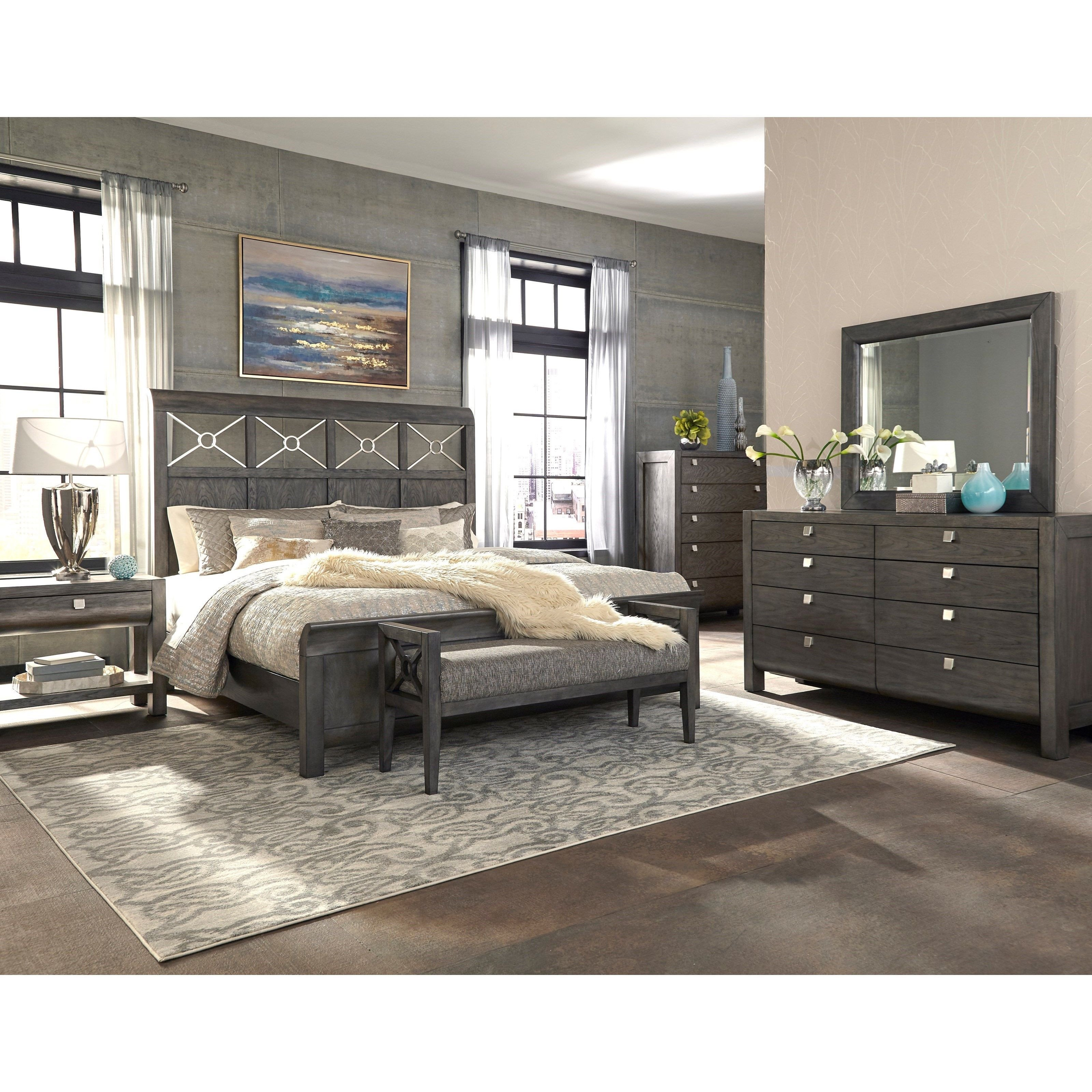 Gray King Bedroom Set Fresh Music City Queen Bed Plete by Trisha Yearwood Home