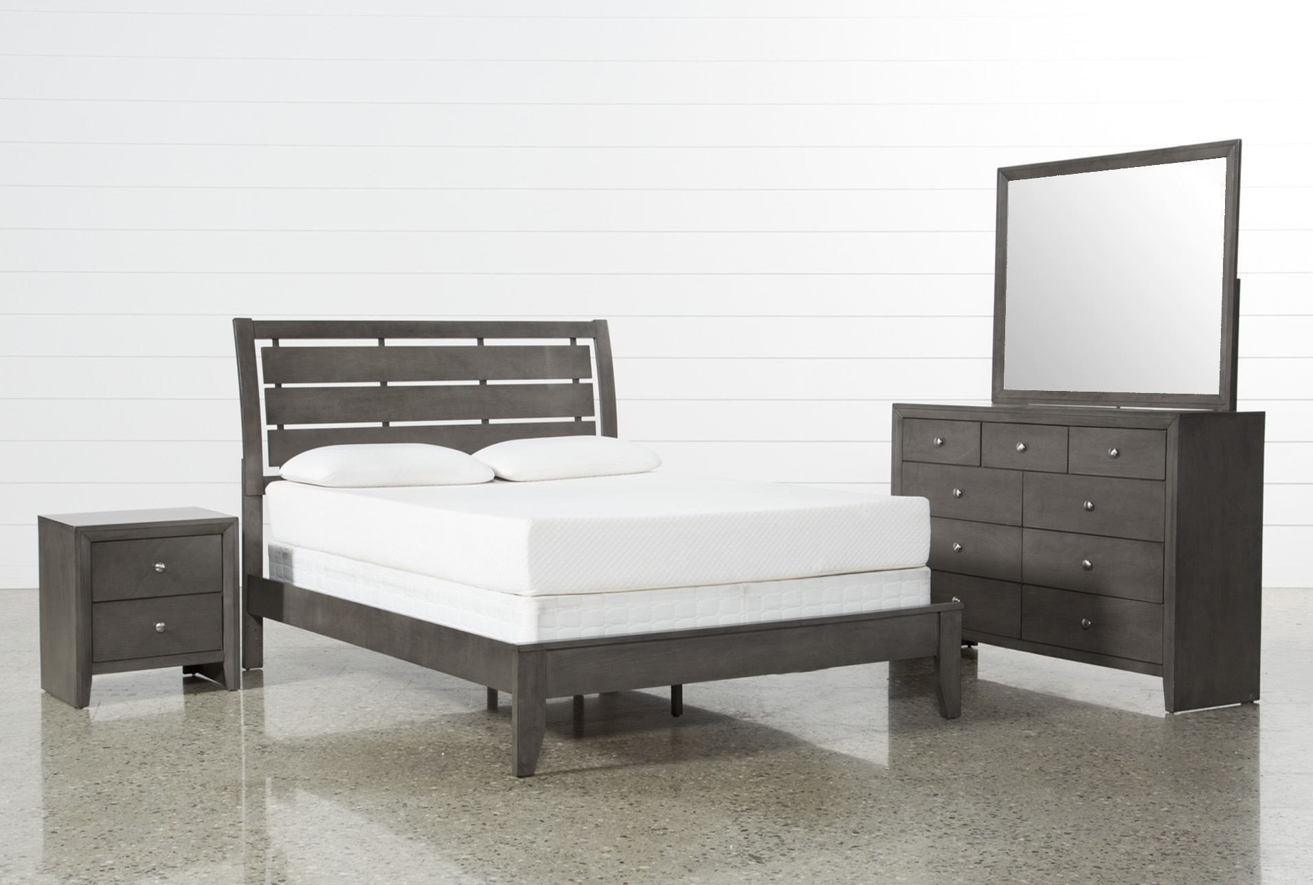 Gray King Bedroom Set Lovely Grey Eastern King 4 Piece Bedroom Set Chad