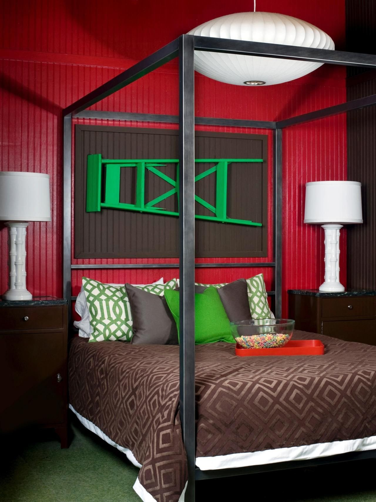 Green and Brown Bedroom Beautiful Bold and Beautiful Bedrooms
