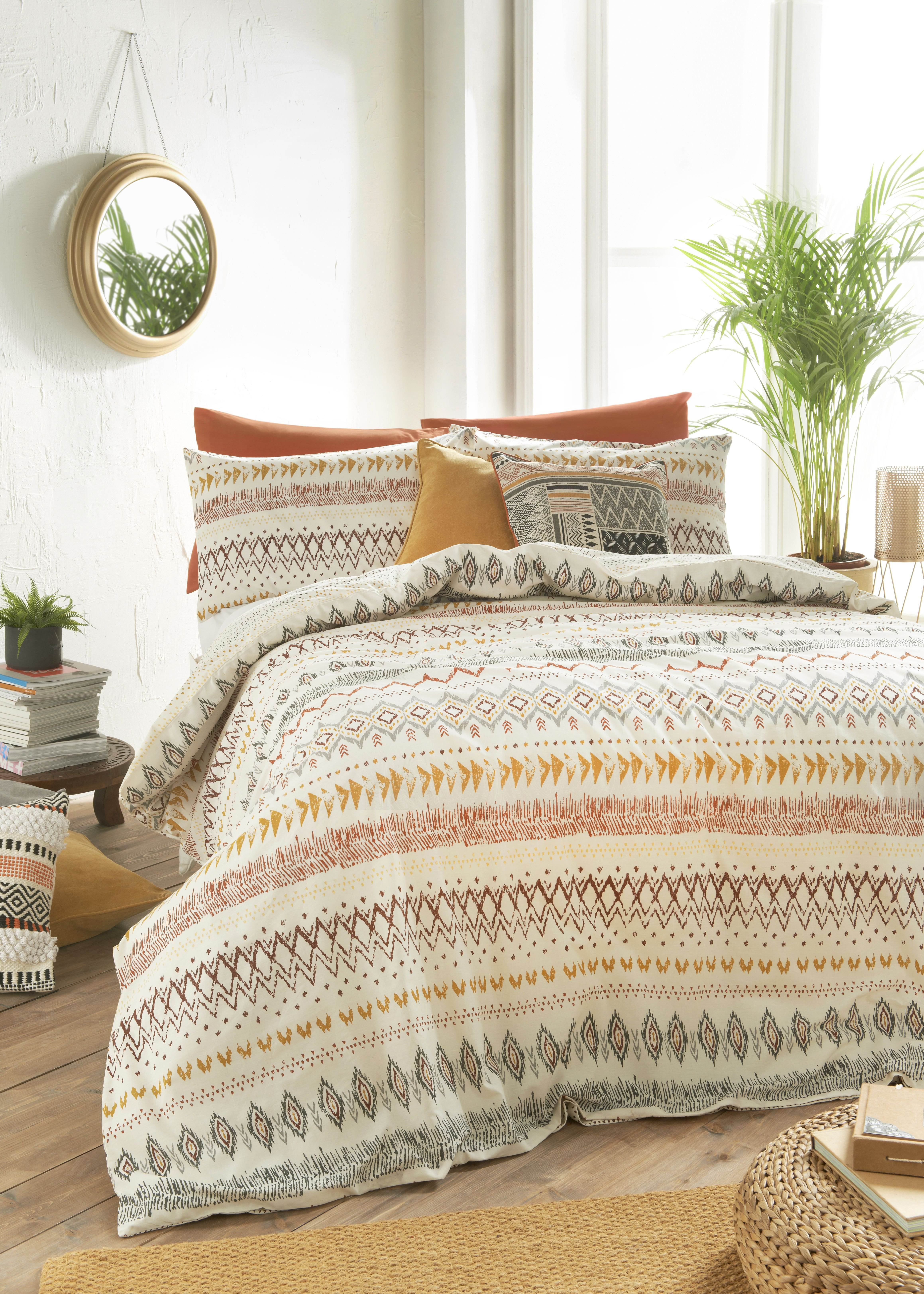 Green and Brown Bedroom New Aztec Duvet Cover