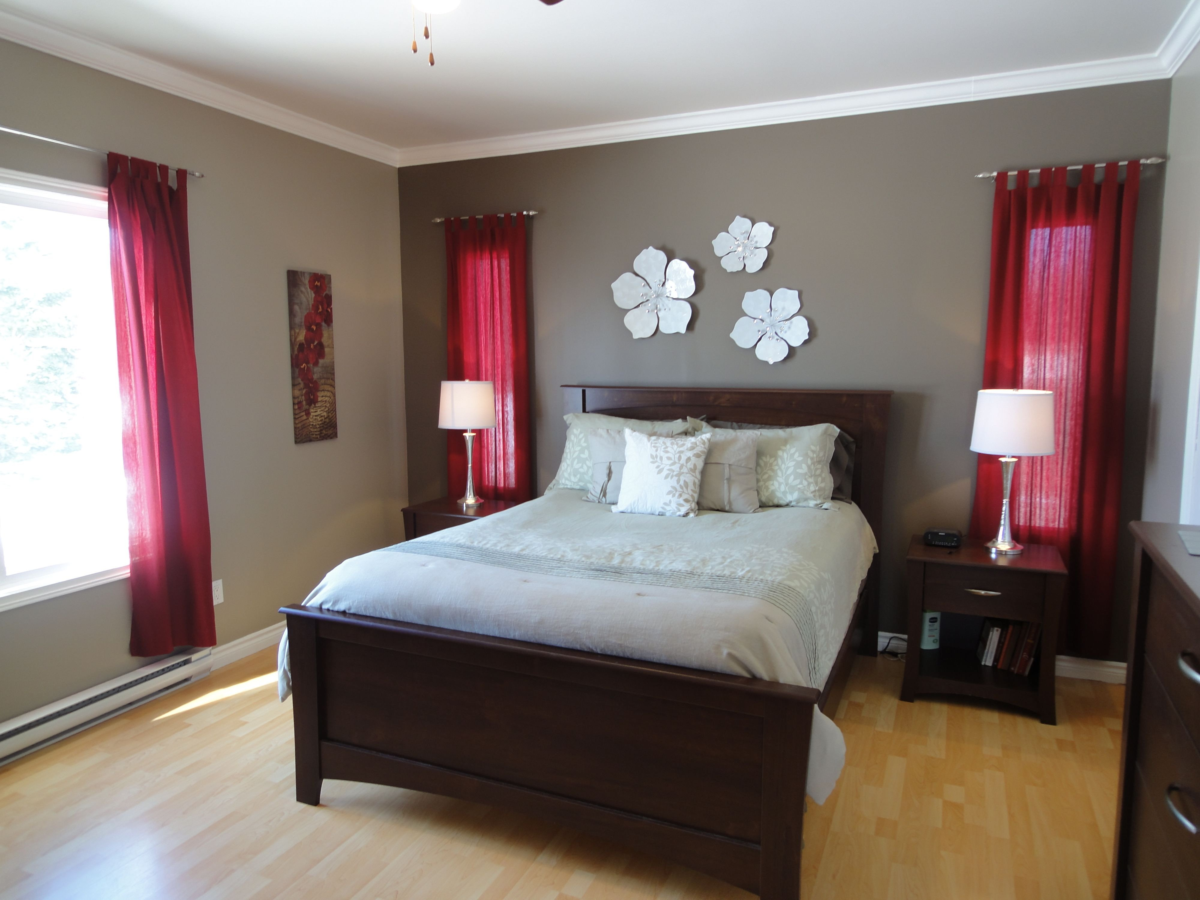 Grey and Burgundy Bedroom Elegant I Just Decorated Our Guest Bedroom with Red Accents I Would