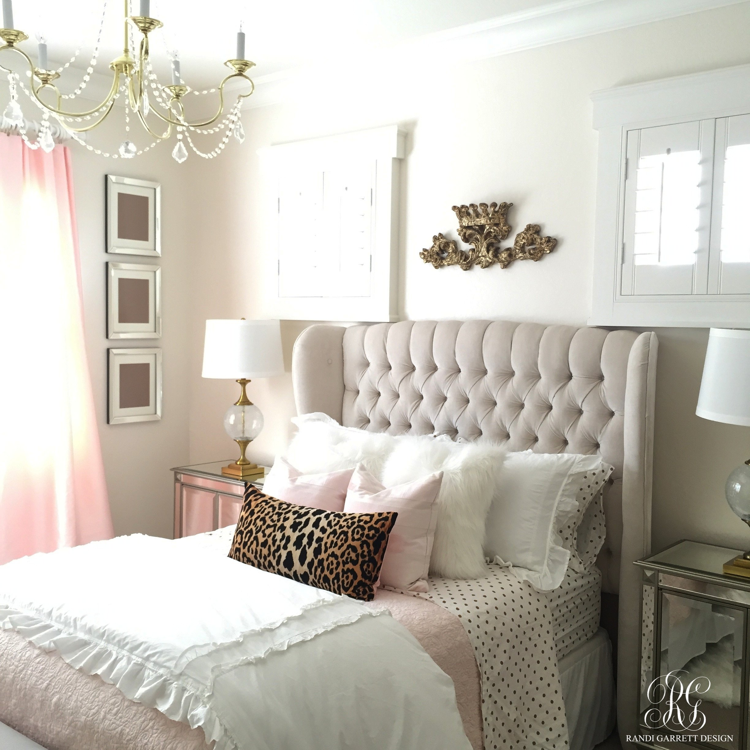 Grey and Gold Bedroom Ideas New Pink and Gold Girl S Bedroom Makeover Randi Garrett Design