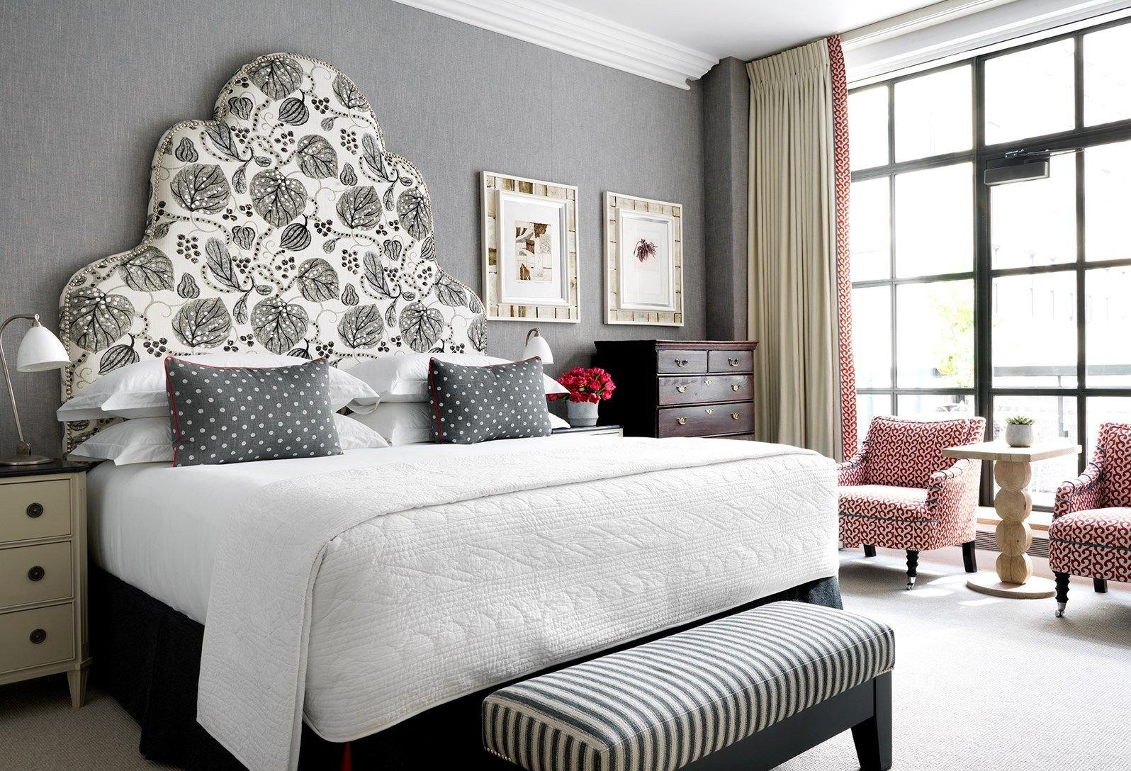 Grey and Red Bedroom Beautiful A Bedroom In Grey tones with Red Details In Two Armchairs In