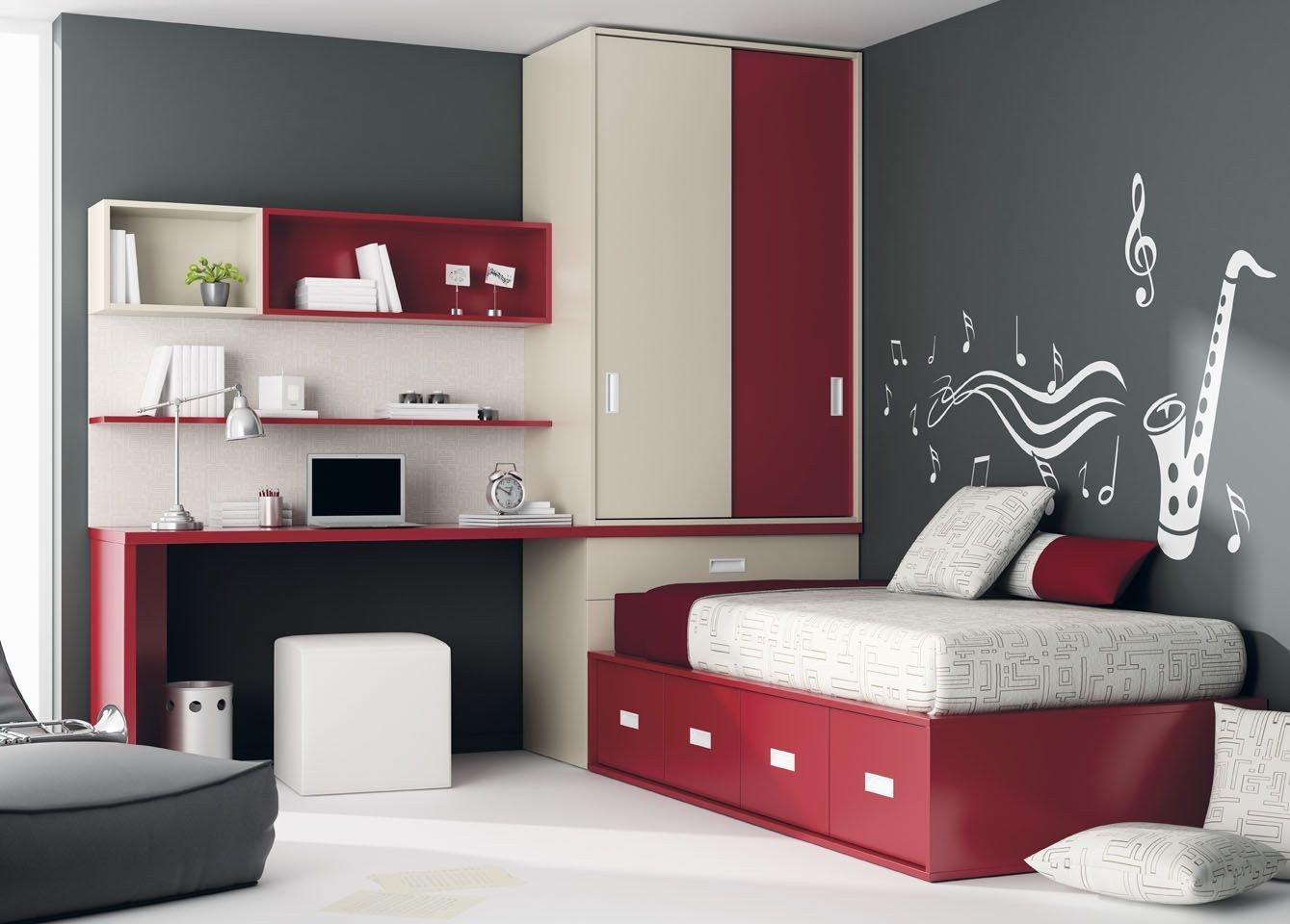 Grey and Red Bedroom Best Of Habitaciones Con Sinfonia