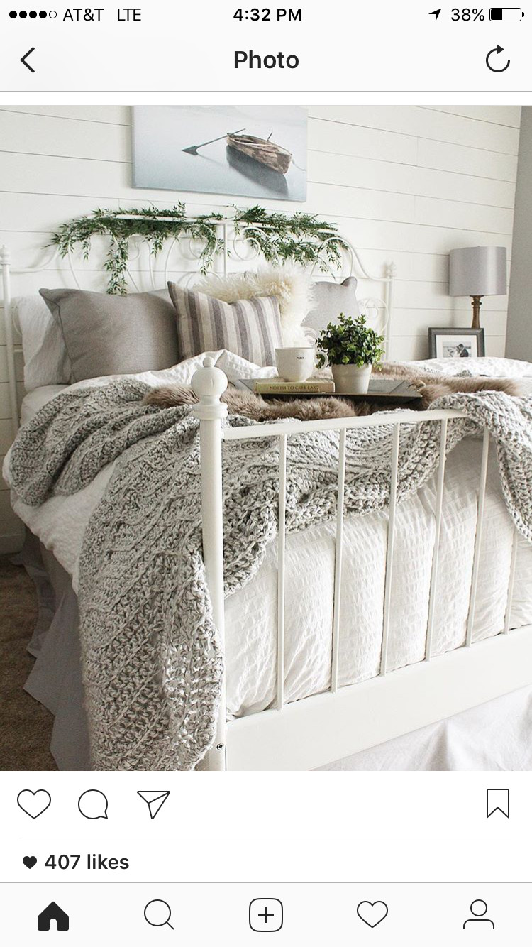Grey and Tan Bedroom Fresh Instagram Bloomingdiyer Love the Shiplap and Cozy Bedroom