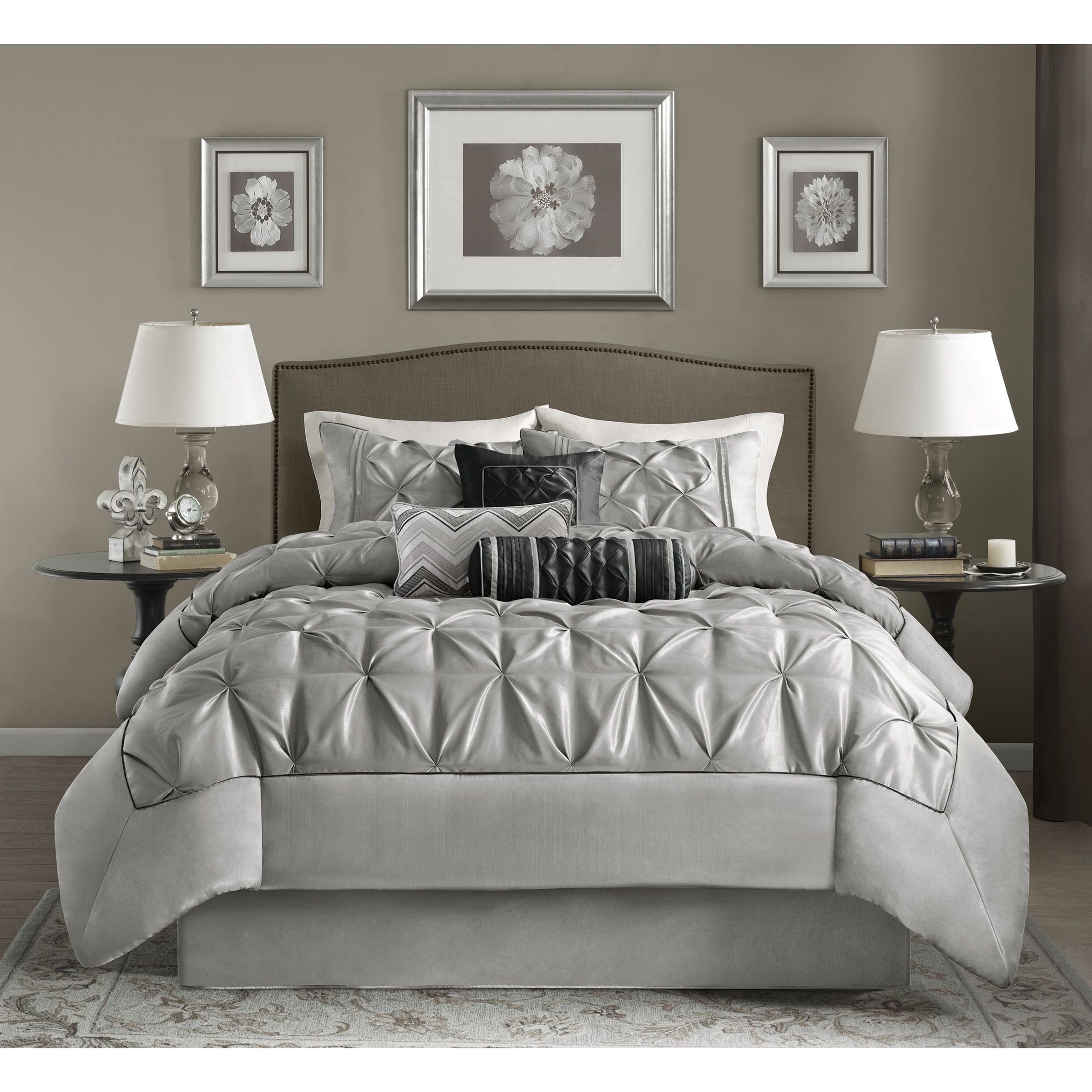 Grey and Tan Bedroom Unique This Beautifully Tufted Bed is From the Cynthia Bedding