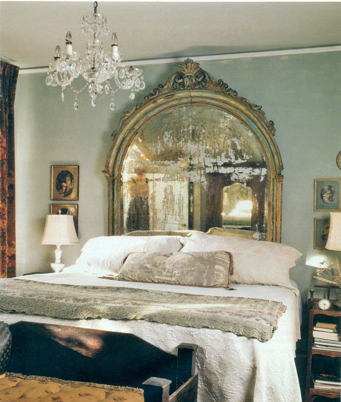 Grey and Turquoise Bedroom Ideas Beautiful Just A Wonderful Faded Mirror Behind the Bed Grey Blue