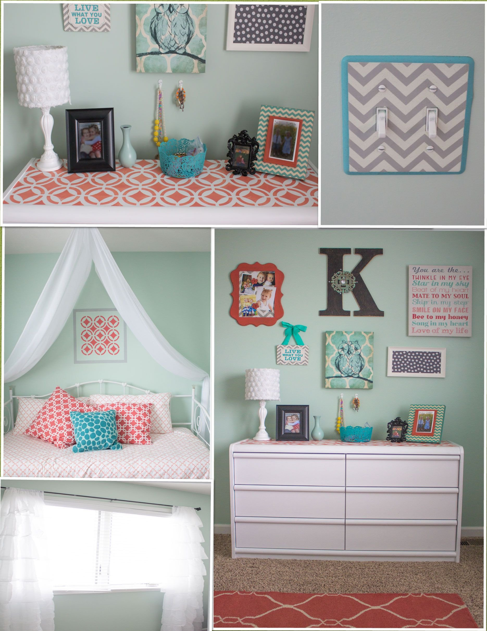 Grey and Turquoise Bedroom Ideas Lovely My New Favorite Room In the House Love My Mint and Coral