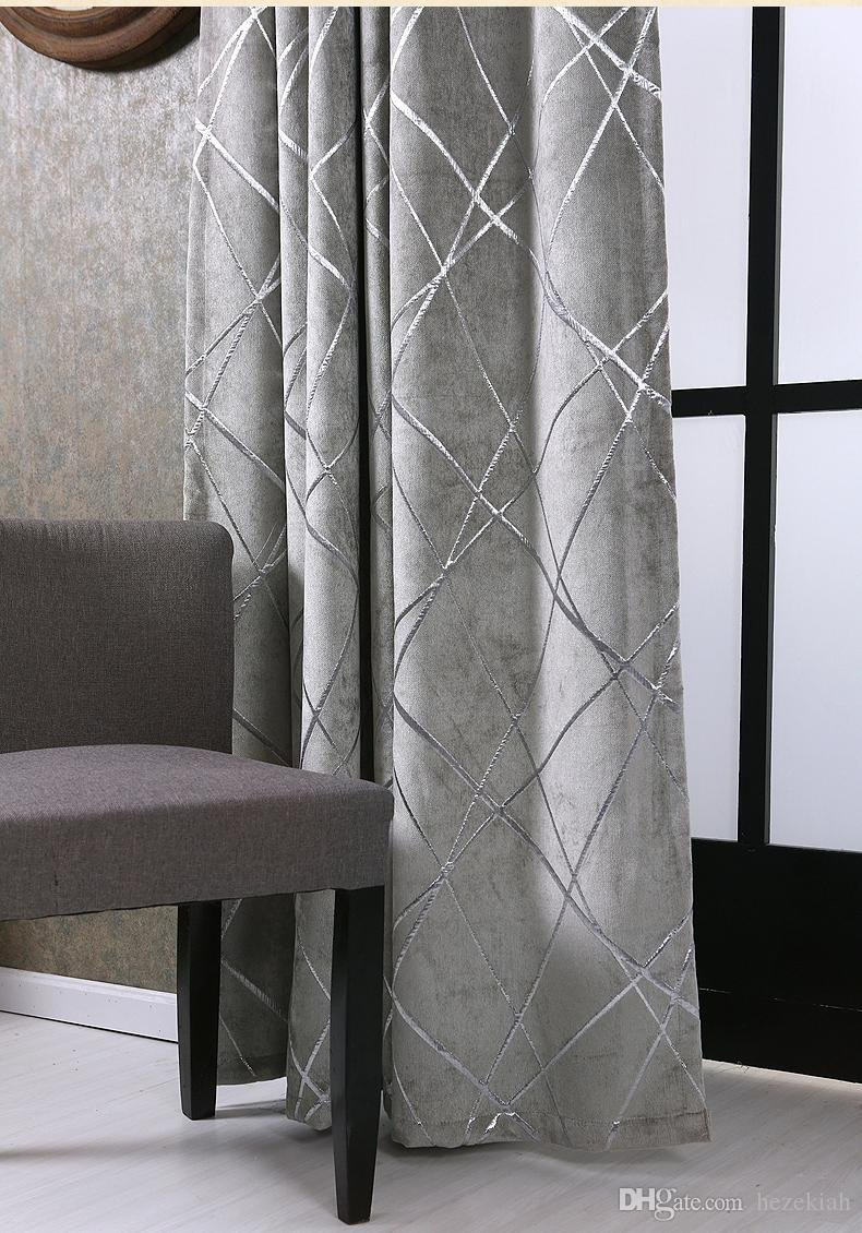 Grey Curtains for Bedroom Best Of 2019 Simple Modern Bedroom Balcony Living Room Villa Grey Thick Chenille Silver Jacquard Blackout Curtain Water Cube Free Installation From Hezekiah