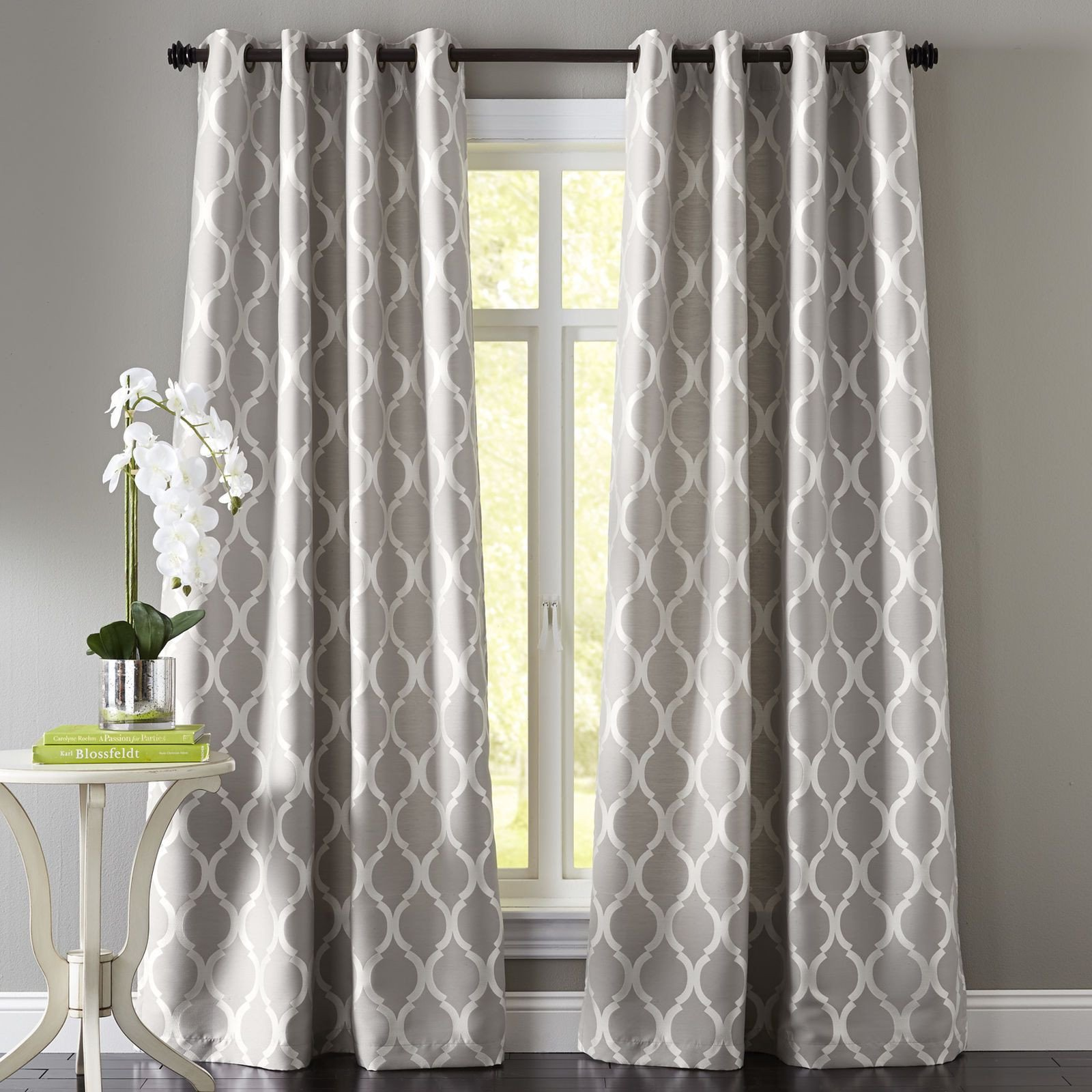 Grey Curtains for Bedroom Inspirational Moorish Tile Grommet Gray Curtain Home