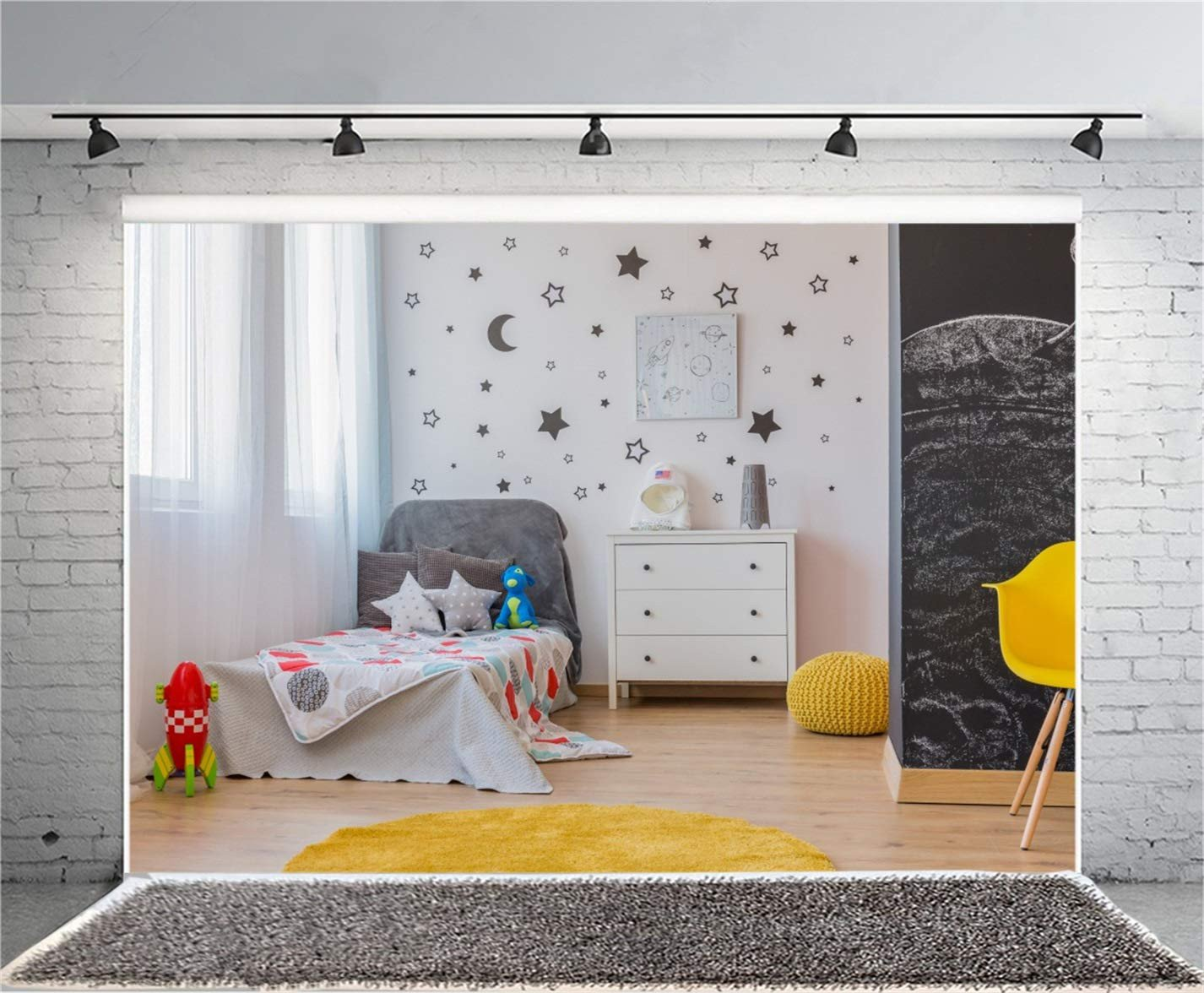 Grey Curtains for Bedroom Luxury Leyiyi 10x8ft Children S Room Interior Graphy Background Window Rocket Star Moon Pillow Carpet Kids Birthday Backdrop Curtain toy Dragon1st B Day