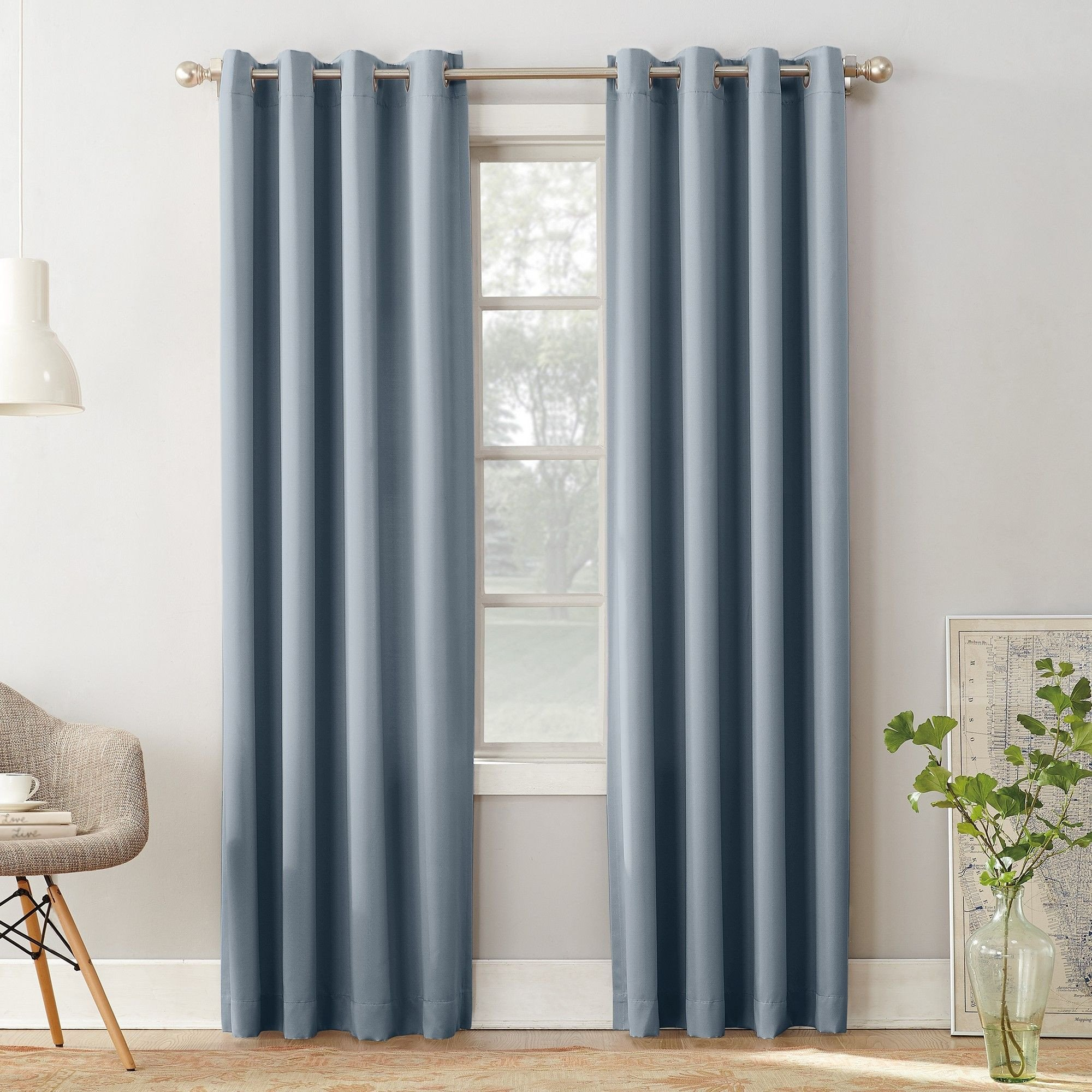 Grey Curtains for Bedroom New Seymour Room Darkening Grommet Curtain Panel Vintage Blue 54