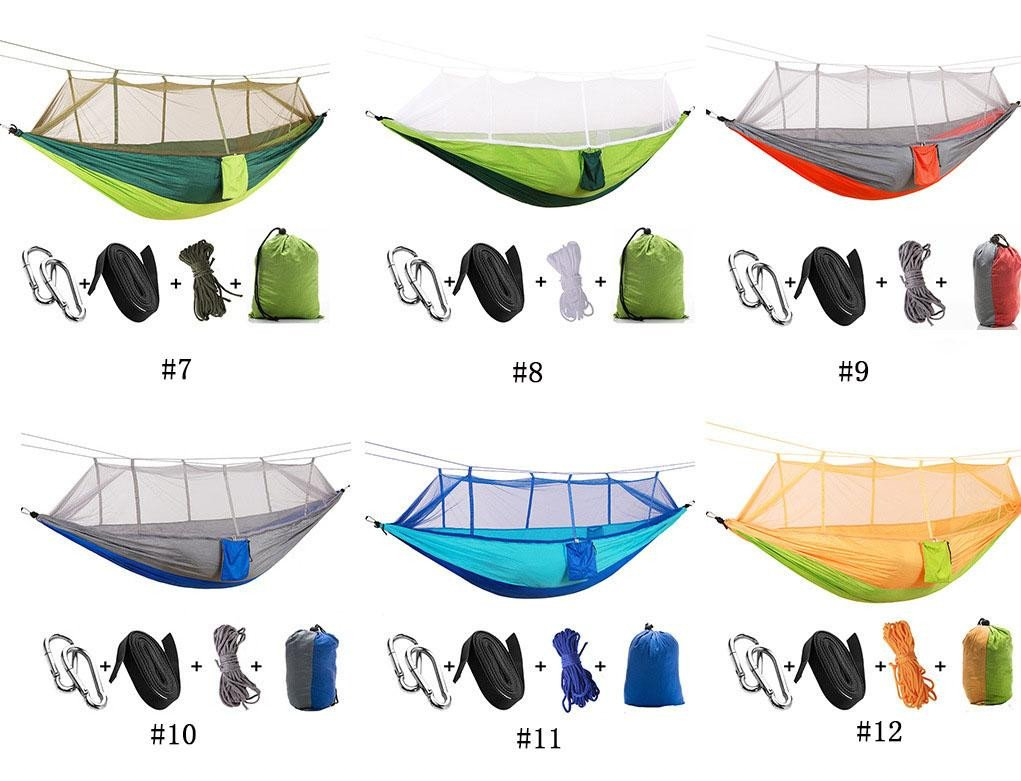 Hammock Bed for Bedroom Unique 2019 Hot Travel Double Hammock Chair with Mosquito Net Light Nylon Garden Swing Hanging Camp Air Tent Outdoor Furniture Bed From the One $33 54