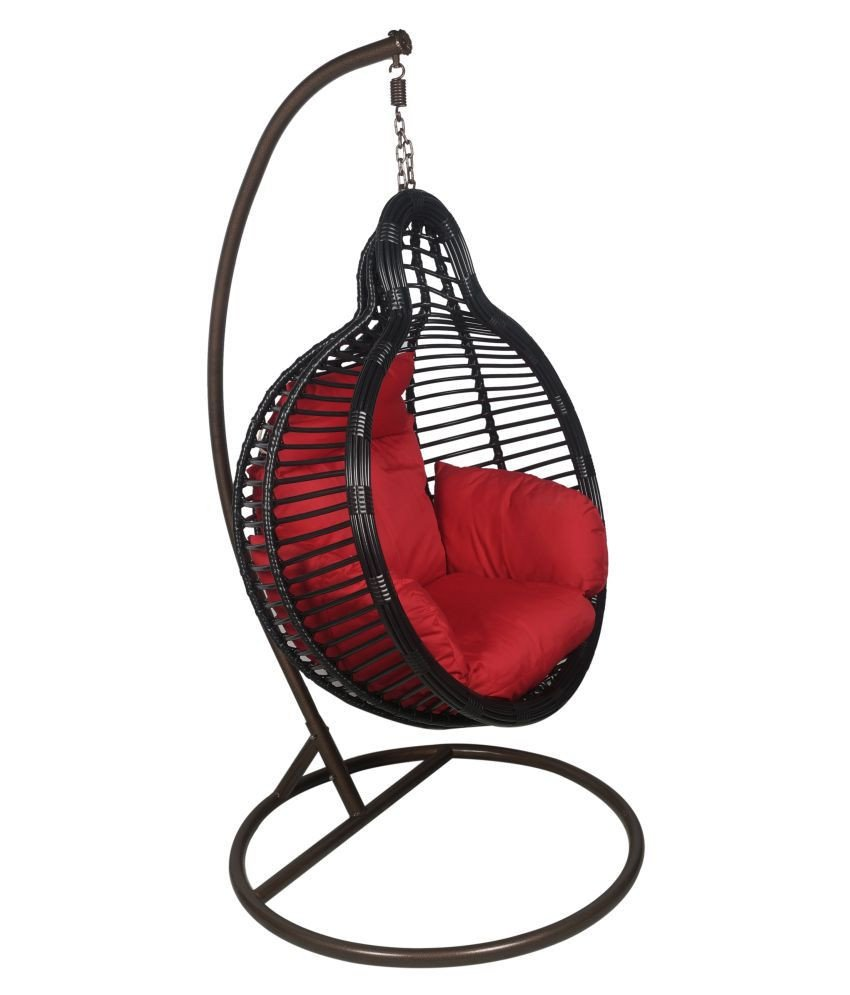 Hanging Chairs for Bedroom Elegant Outkraft Hanging Chair Swing with Cushions & Stand Black