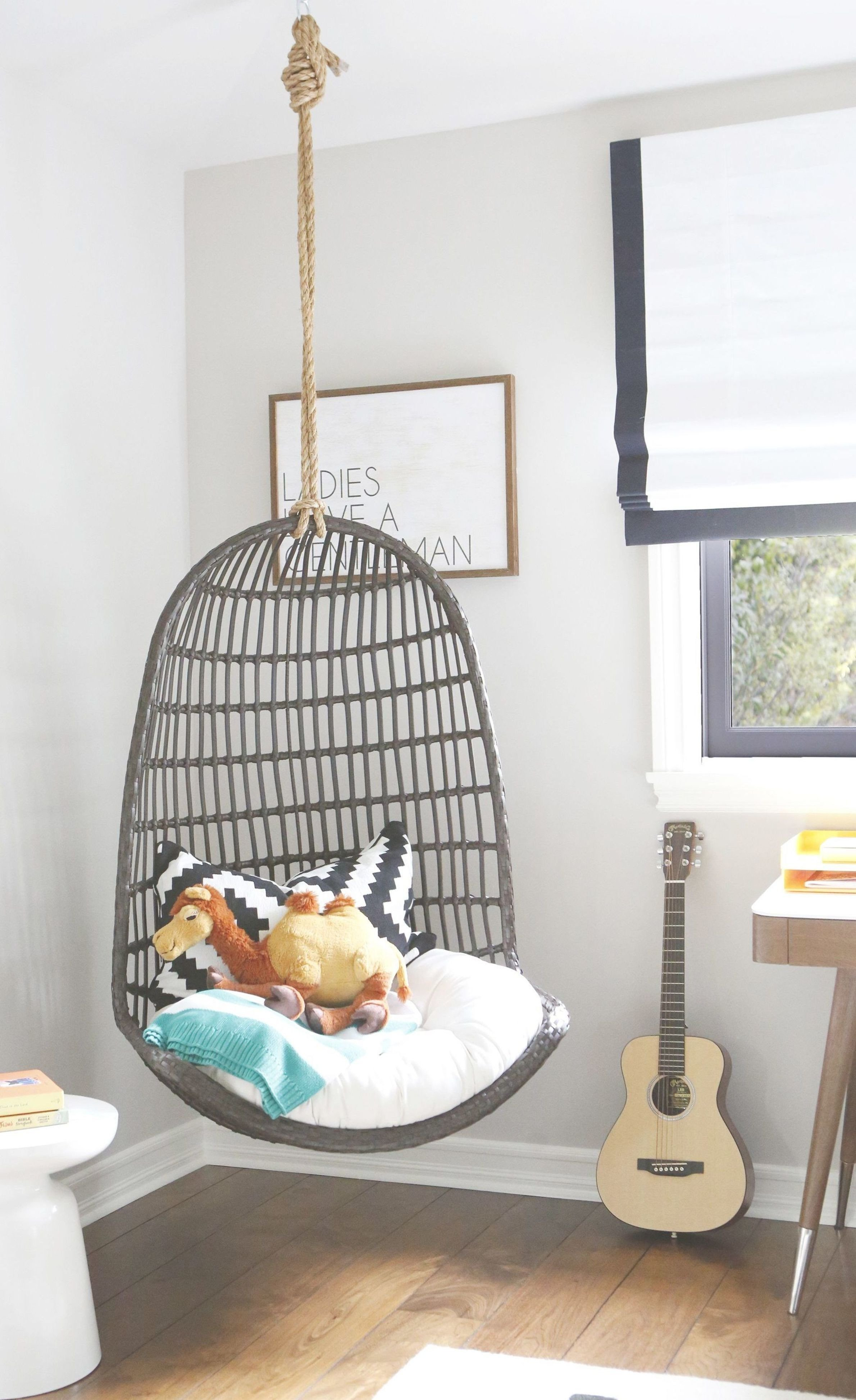 Hanging Chairs for Bedroom Inspirational Modern Eclectic Big Boy Room with Hanging Chair In 2020