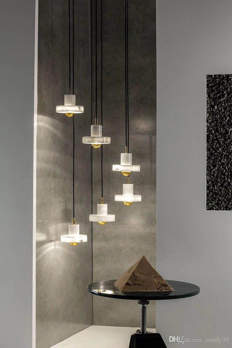 Hanging Lamp for Bedroom Lovely Modern Design White Marble Pendant Light Chandelier Bedside Ceiling Lamp New Sample Room Wall Hanging Lamp Art Home Lighting E079 Pendant Globe Light