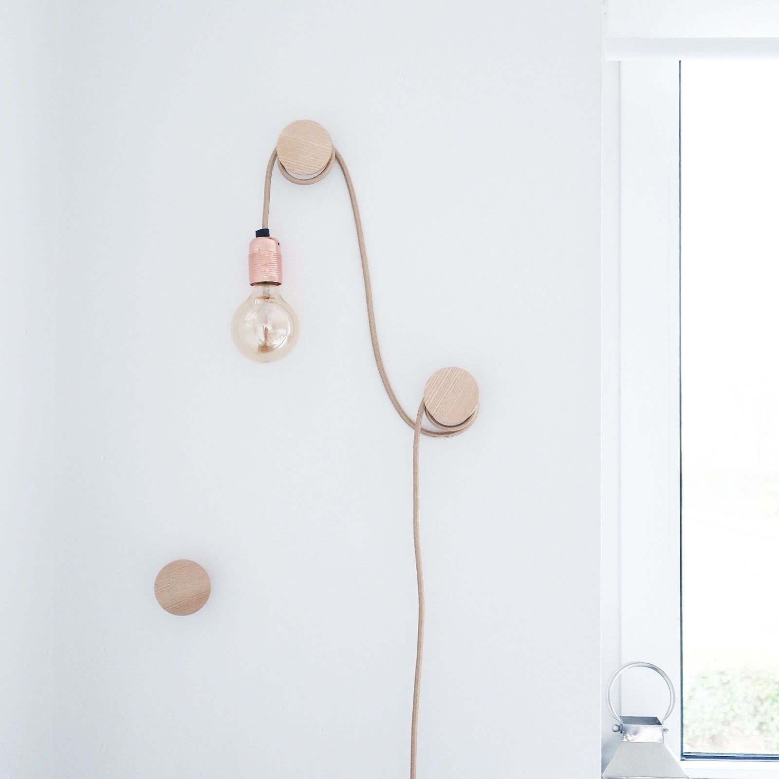 Hanging Lamp for Bedroom New Hanging Bare Bulb Over Wall Hooks Feature Light In 2020