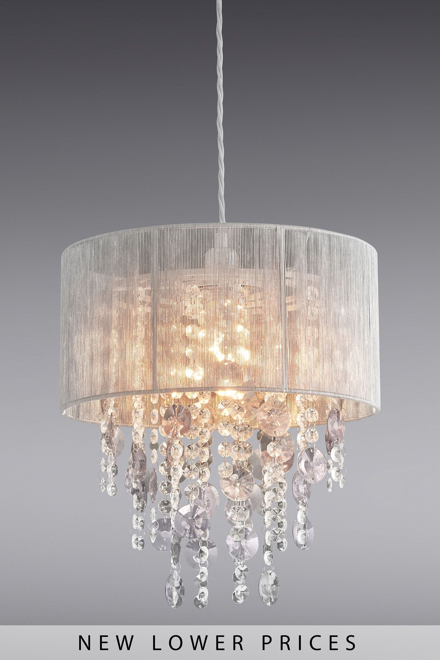 Hanging Light for Bedroom Elegant Next Palazzo Shadelier Grey In 2020
