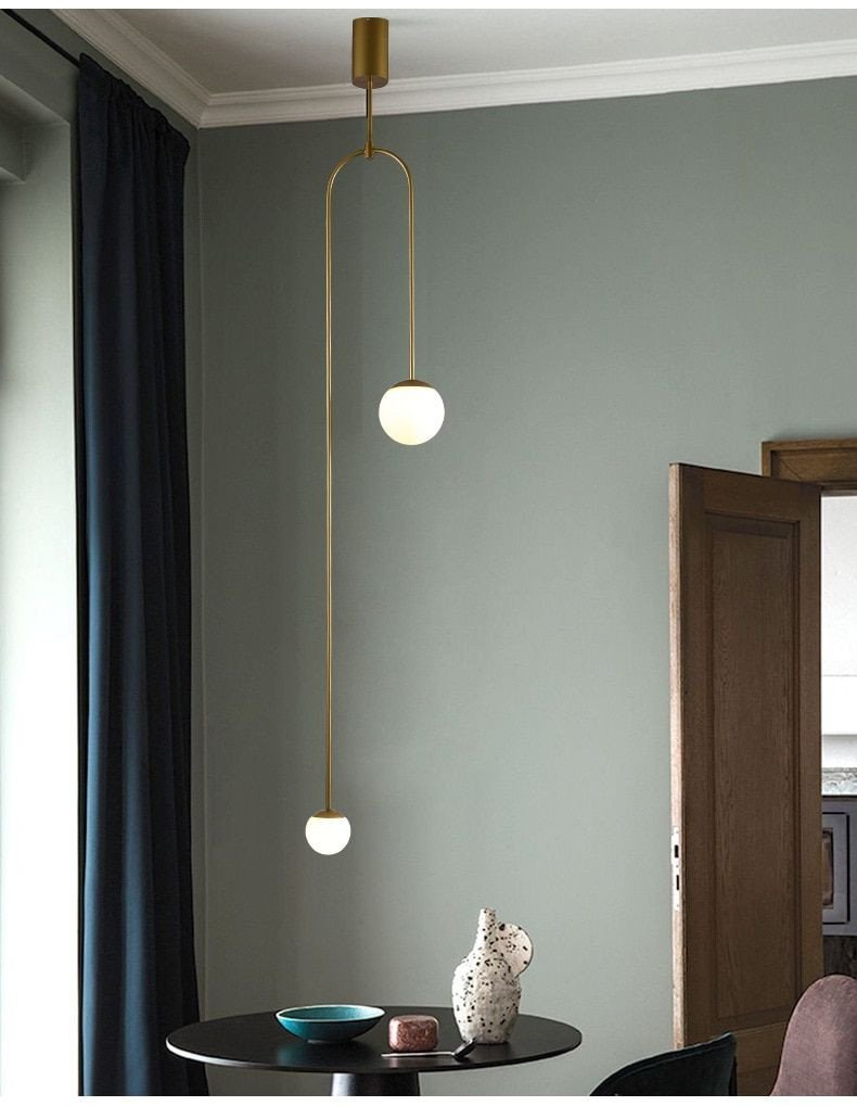 Hanging Light for Bedroom Luxury Postmodern Led Pendant Lights Bedroom Lighting nordic Home