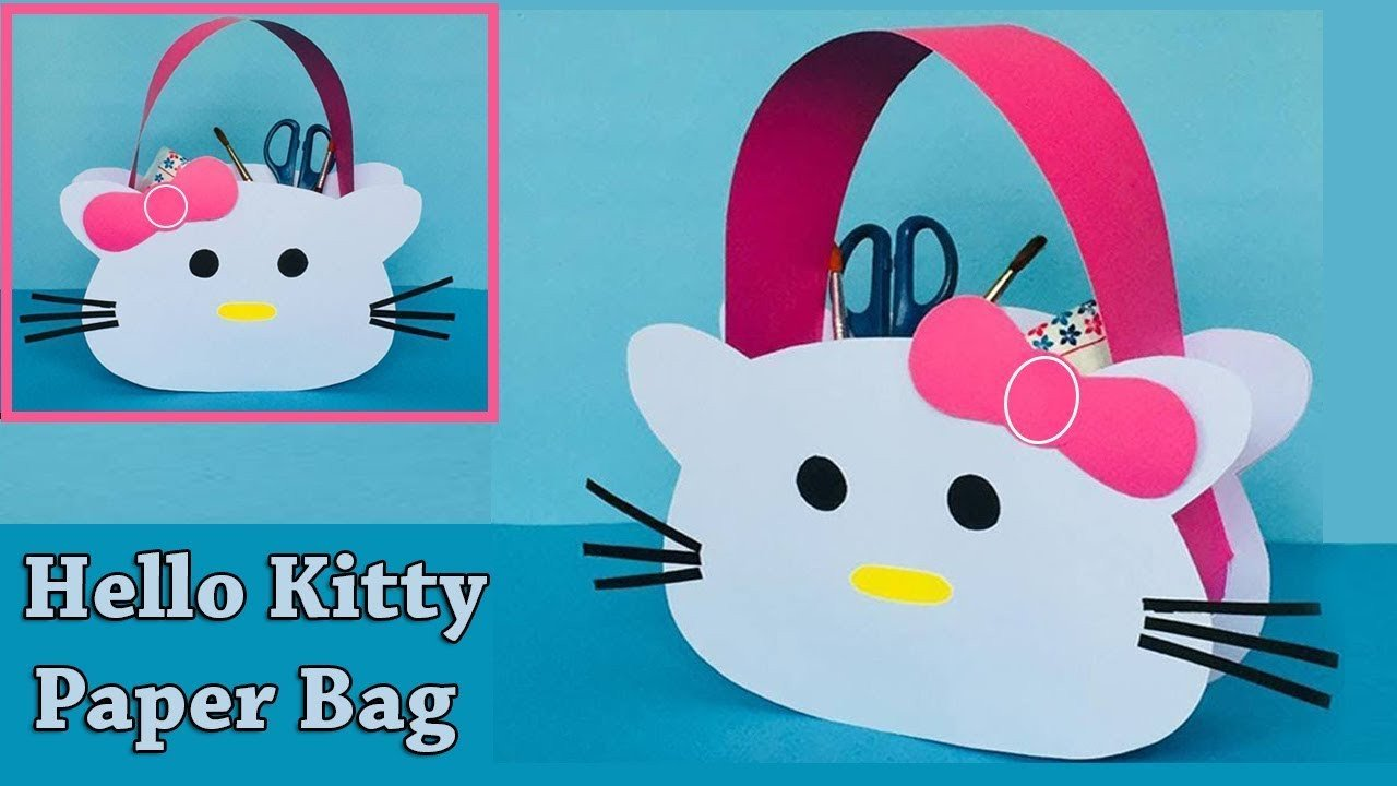 Hello Kitty Bedroom In A Box Beautiful Diy Hello Kitty Paper Bag How to Make A Paper Bag