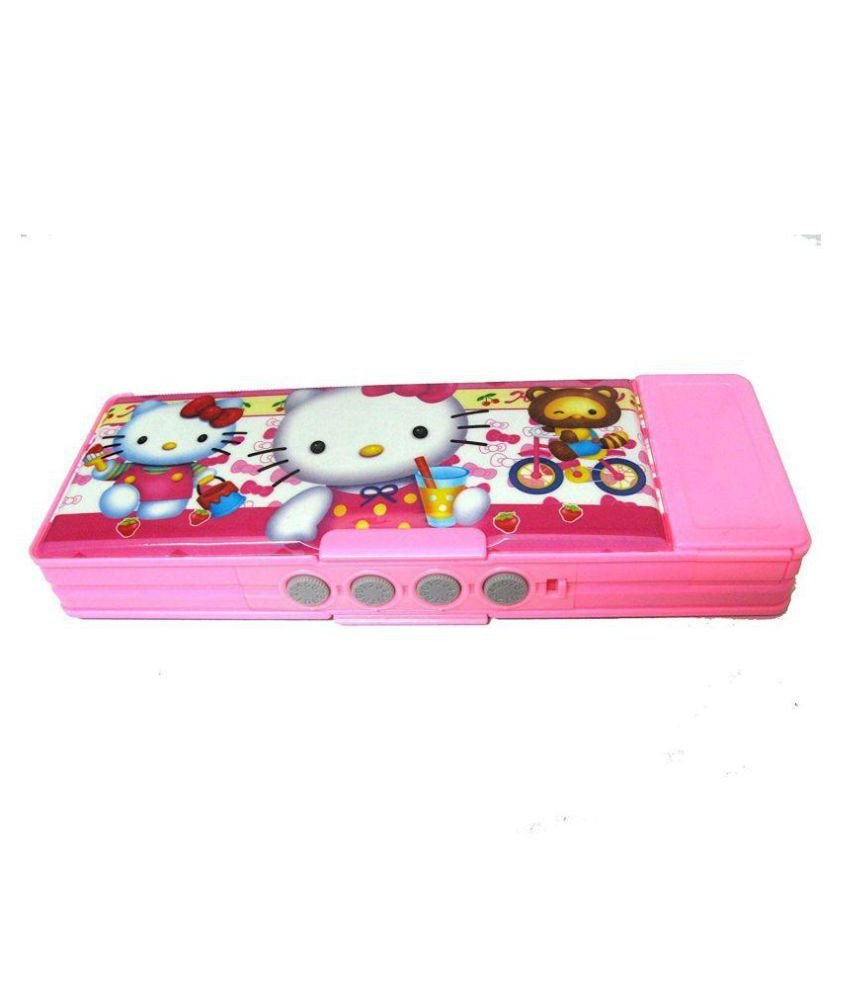 Hello Kitty Bedroom In A Box New Double Sided Pass Hello Kitty Pattern Pencil Box with