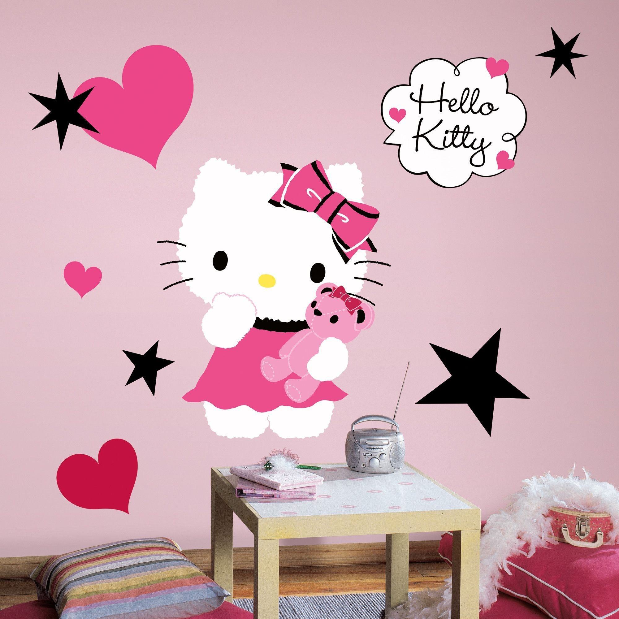 Hello Kitty Bedroom Set Awesome Popular Characters Hello Kitty Couture Giant Wall Decal