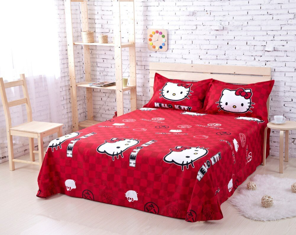 Hello Kitty Bedroom Set Fresh Cotton Hello Kitty Queen Size Bedding forter Set