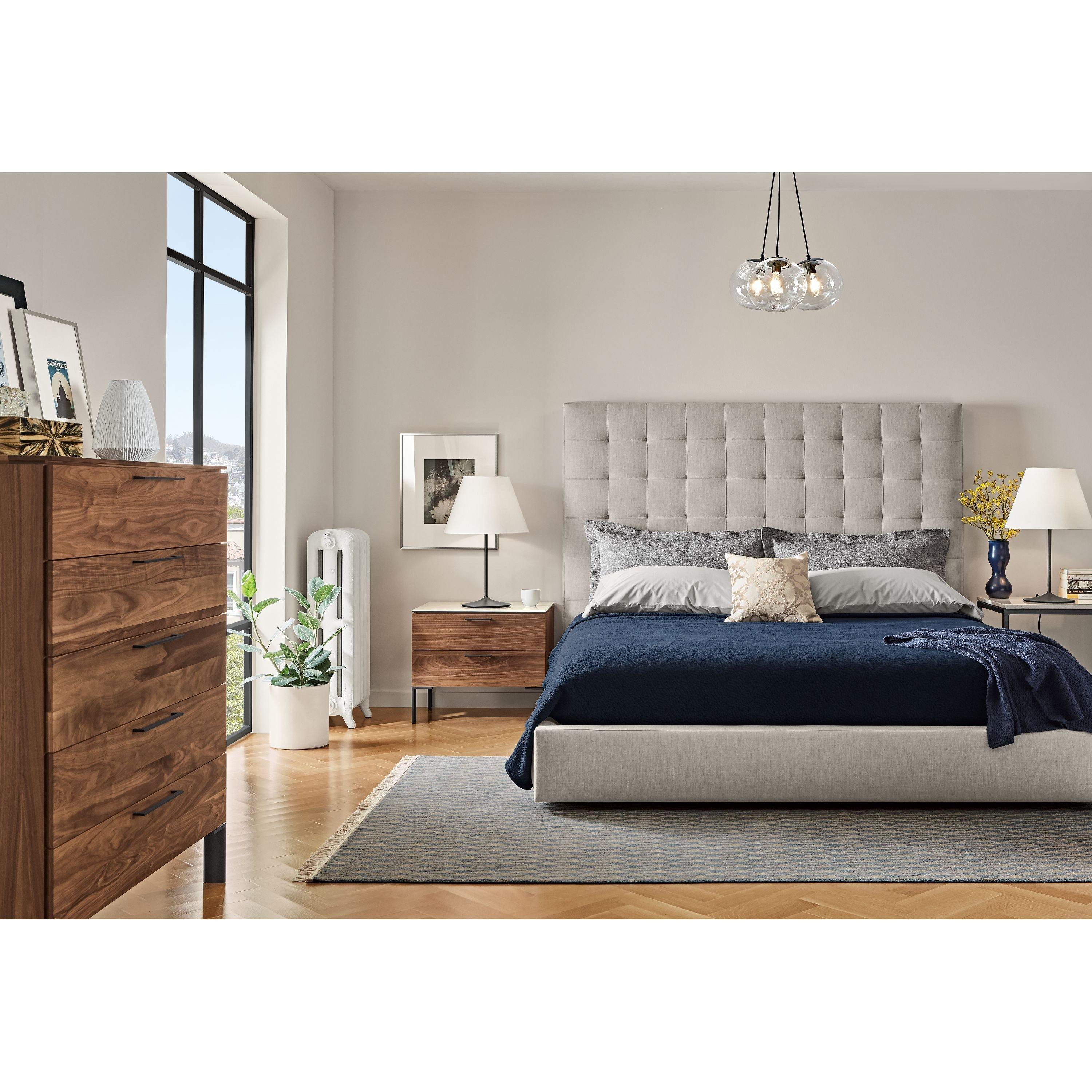 High Quality Bedroom Furniture New soria Modern Table Lamp with Fabric Shade Modern Bedroom