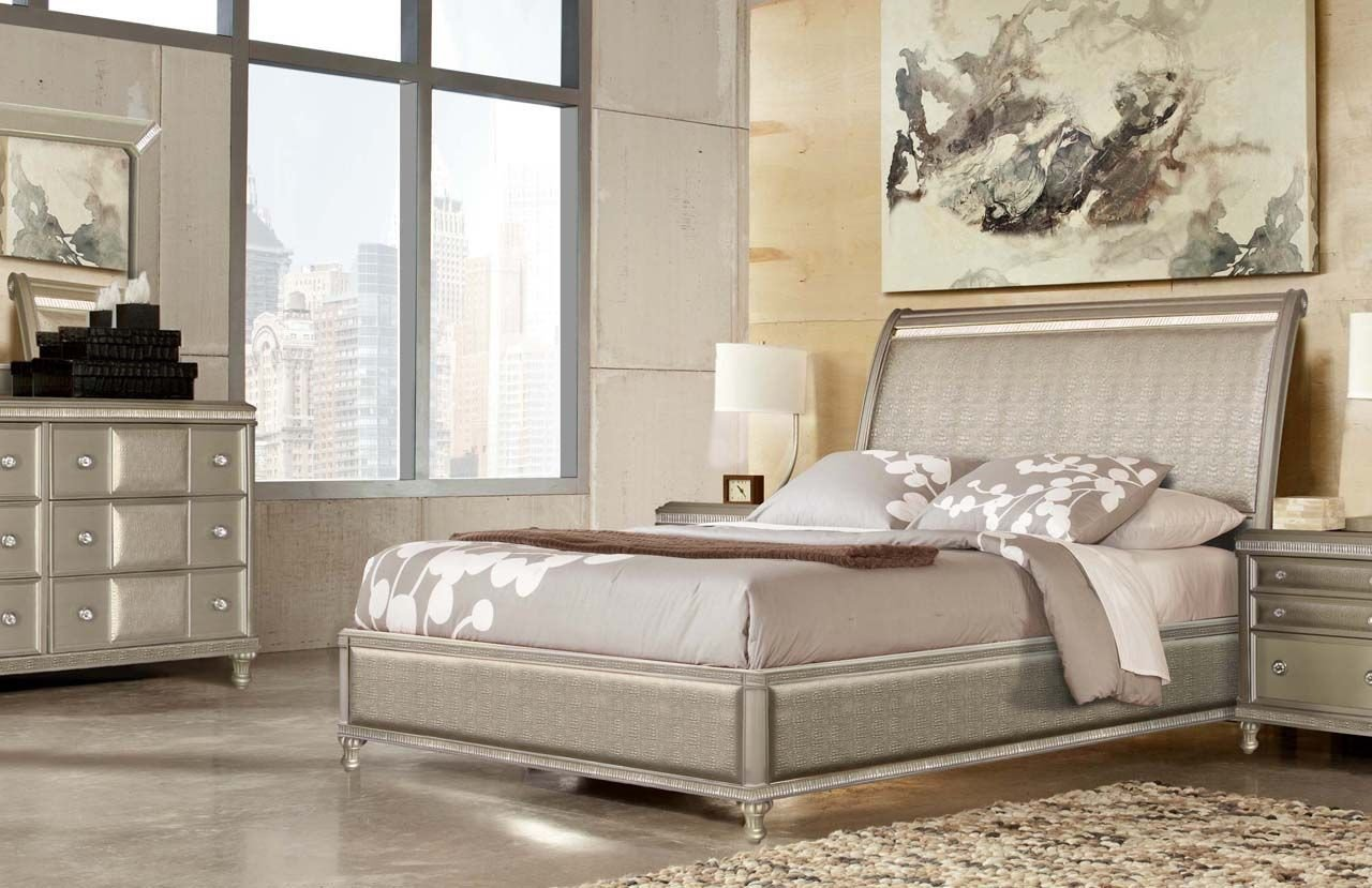 Home Furniture Bedroom Set Unique Glam Bedroom with Gator and Crystal