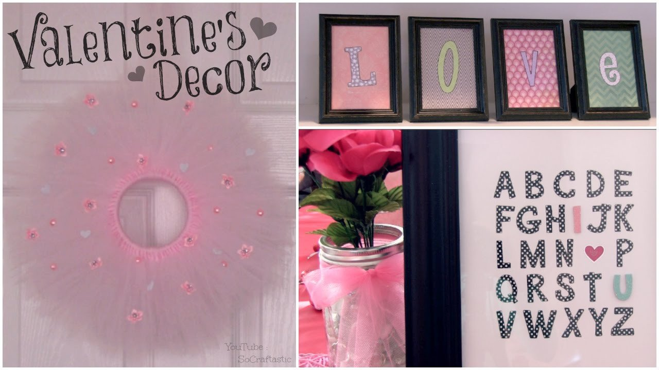 Homemade Wall Decoration Ideas for Bedroom Inspirational Diy Valentine S Day Room Decor Wall Art & Tulle Wreath