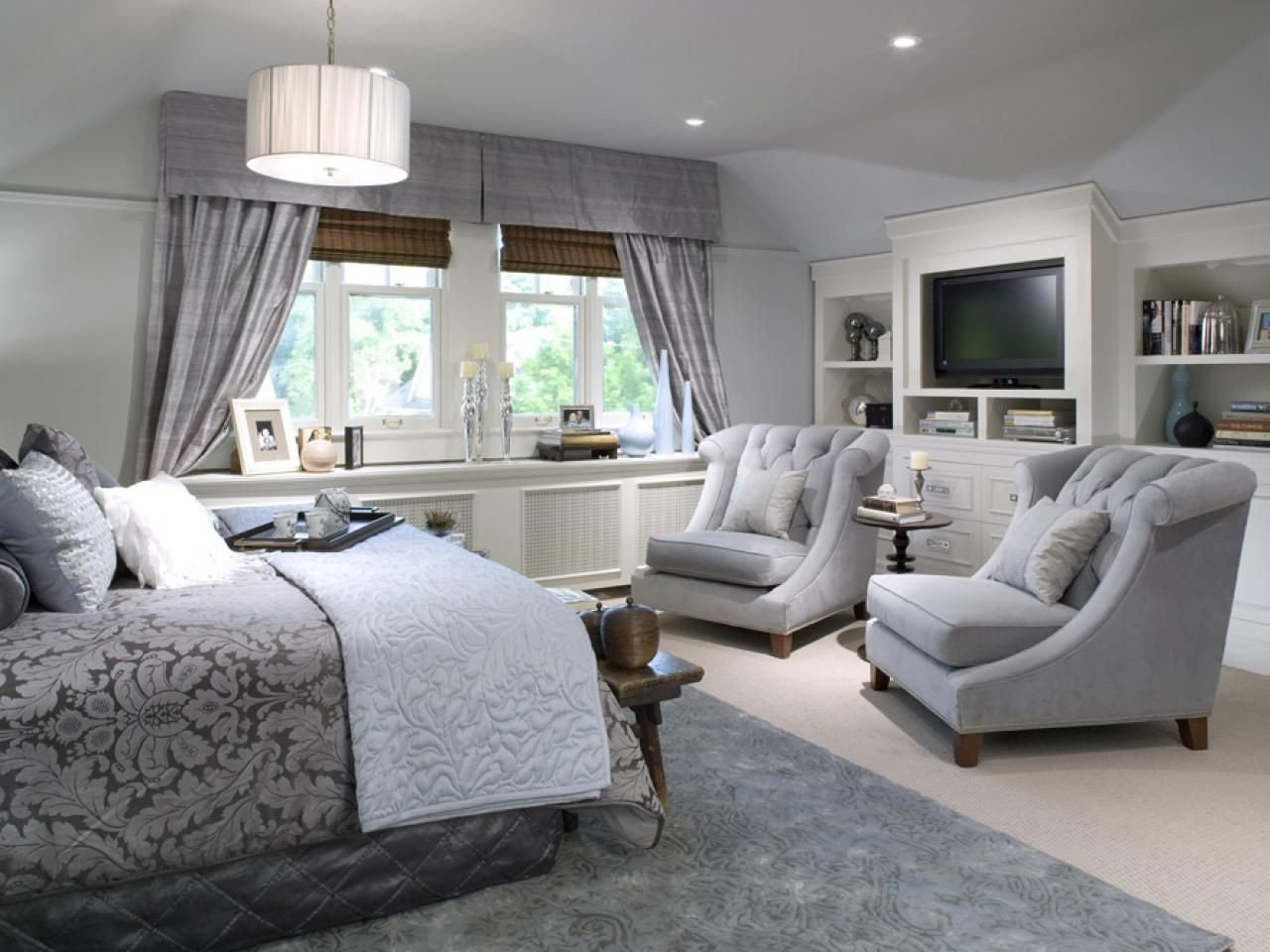 How to Decorate A Large Bedroom Beautiful I Like This Layout Put the Tv Against the Large Wall and A