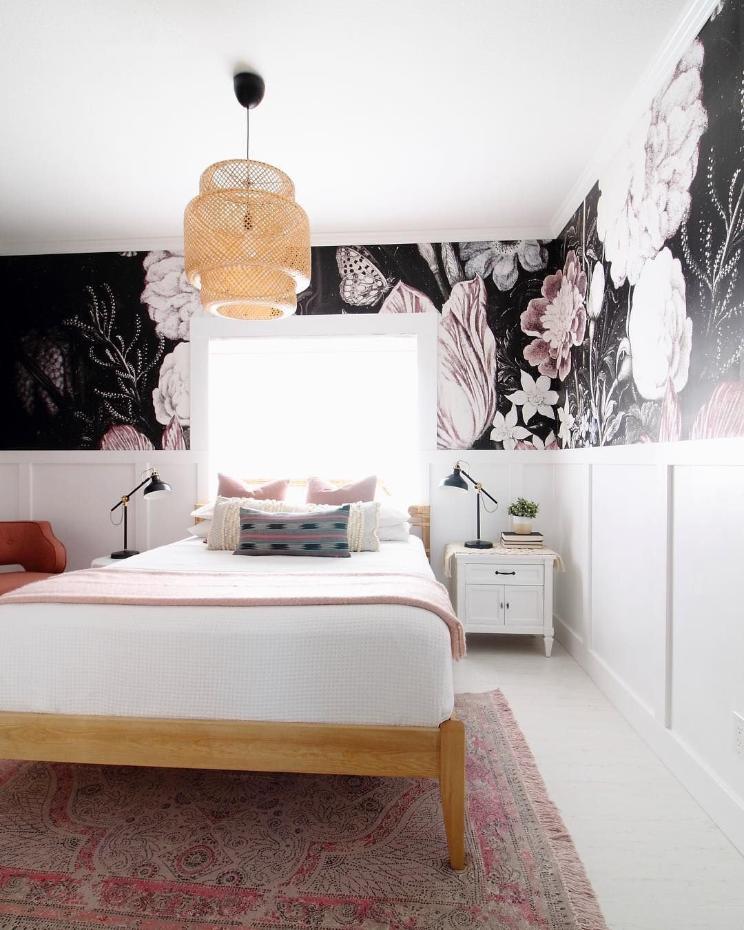 How to Decorate Bedroom Walls New Vintage Floral Art Removable Wallpaper
