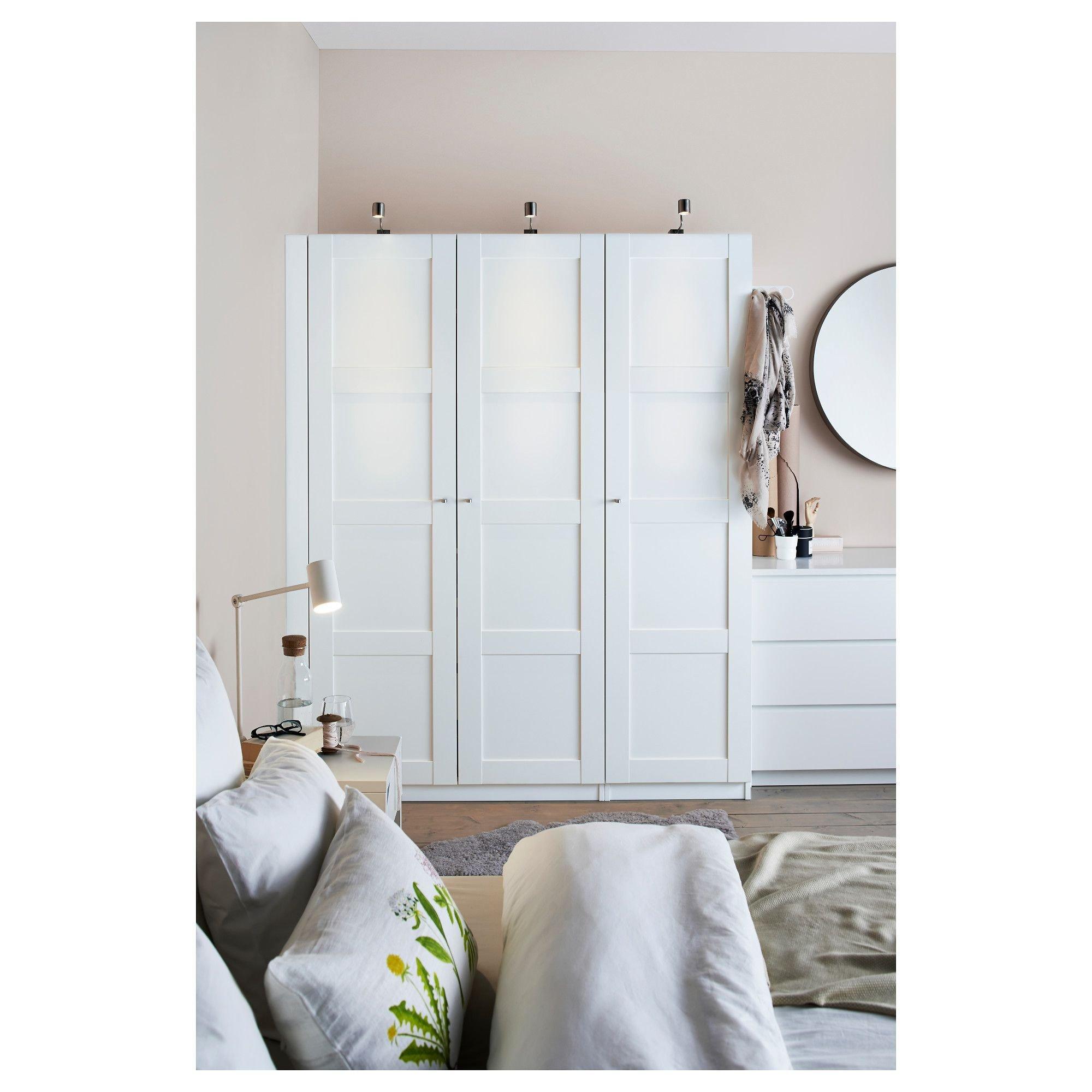 Ikea Bedroom Furniture Wardrobes Elegant Ikea Pax Wardrobe White Bergsbo White