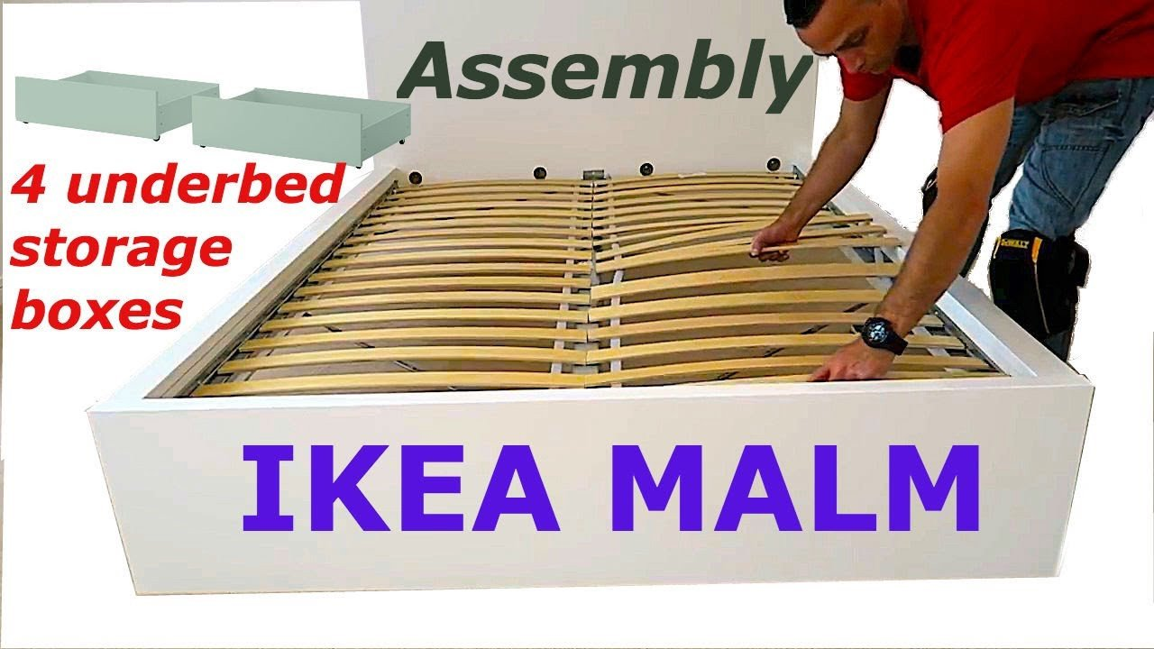 Ikea Bedroom Set Queen Awesome Ikea Malm Bed Frame assembly with 4 Storage Boxes White Luröy