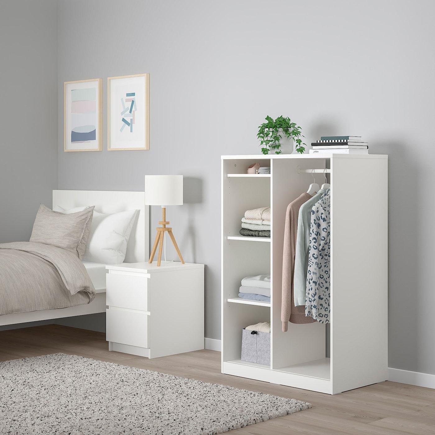 "Ikea White Bedroom Furniture New Open Wardrobe White 31 5 8x48 1 2 """
