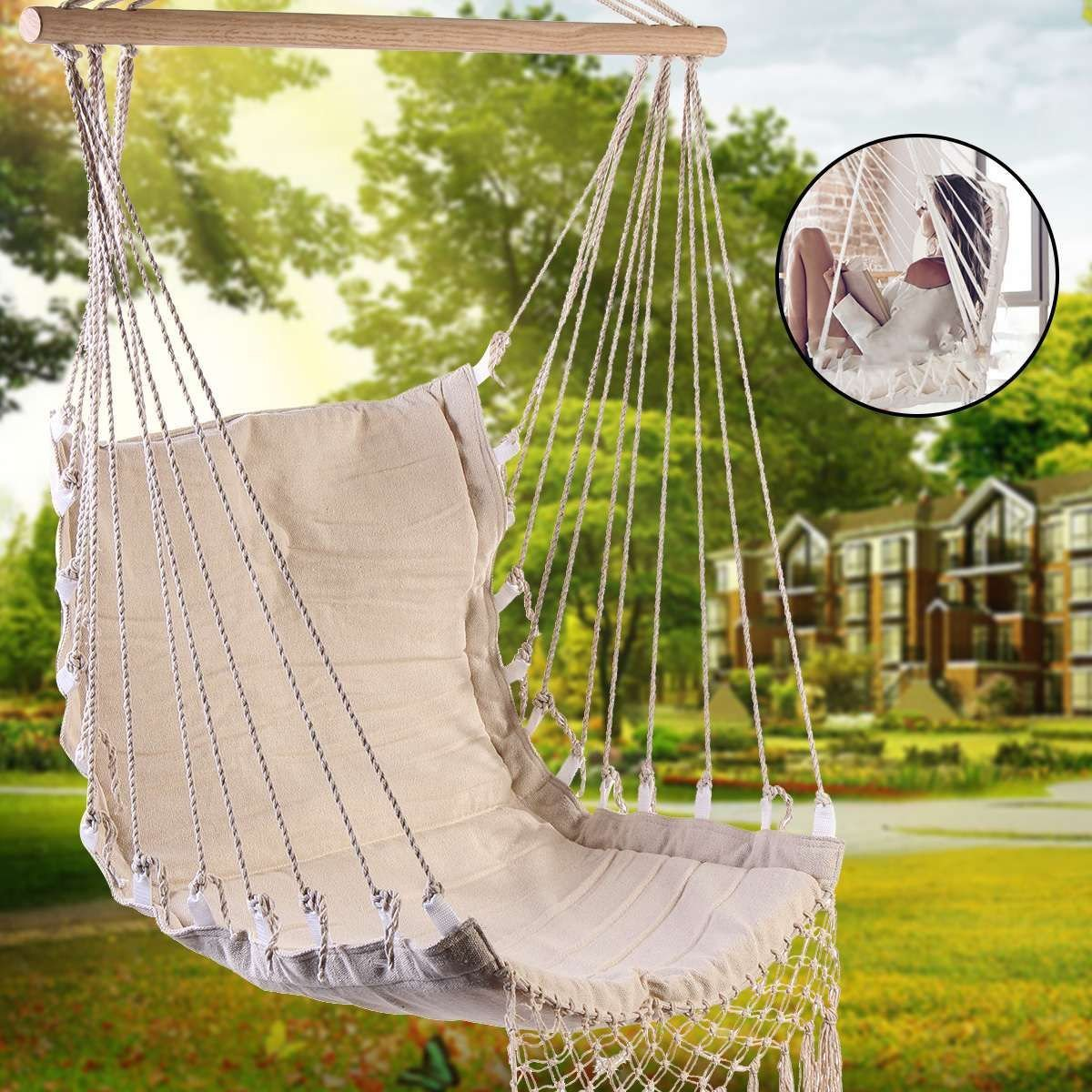 Indoor Hanging Chair for Bedroom Lovely Cotton Canvas Hammock Chair Swing Hanging Chair College