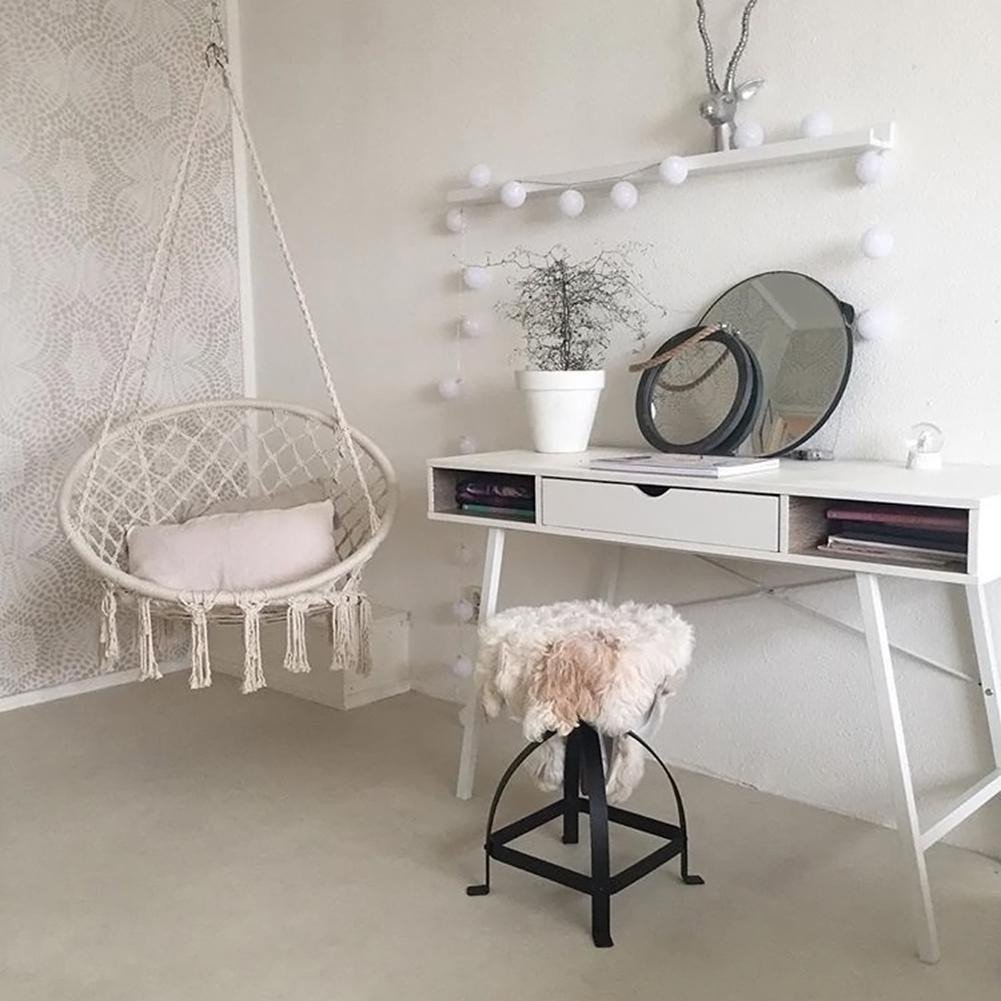 Indoor Hanging Chair for Bedroom Lovely Dreamcatcher Round Hammock Rope Chair