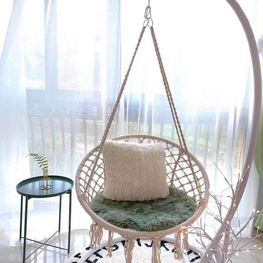 Indoor Hanging Chair for Bedroom Luxury nordic Style Round Hammock Outdoor Indoor Dormitory Bedroom