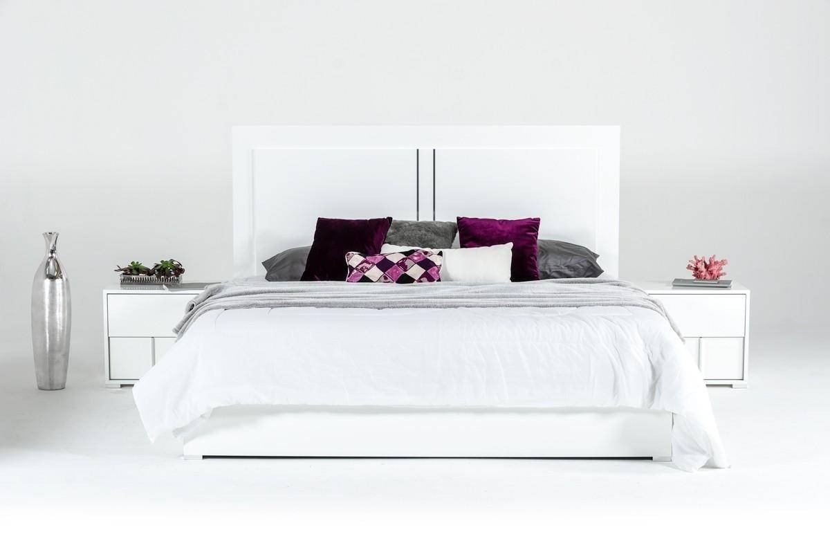 Italian Modern Bedroom Furniture Beautiful Vig Modrest Nicla Modern White Gloss Finish Queen Bedroom