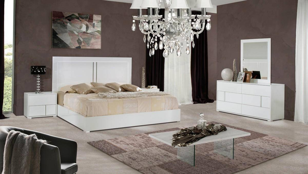 Italian Modern Bedroom Furniture Elegant Vig Modrest Nicla Modern White Gloss Finish Queen Platform