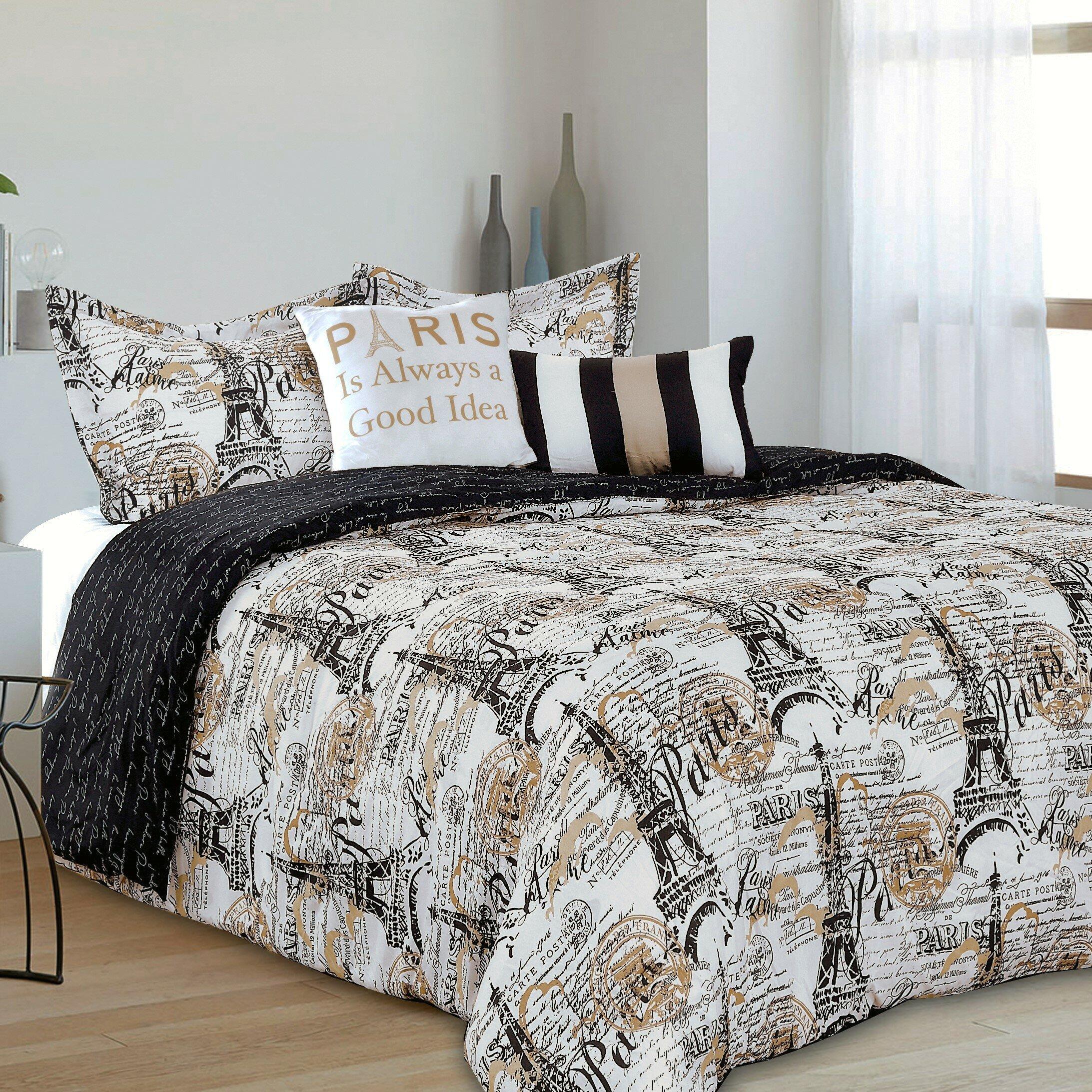 Kathy Ireland Bedroom Furniture Beautiful House Of Hampton Edwardo Chic Paris Reversible forter Set