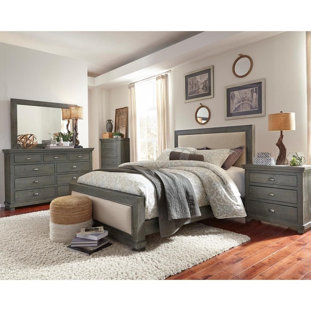 Kathy Ireland Bedroom Furniture Beautiful Progressive Furniture Willow Distressed Dark Gray