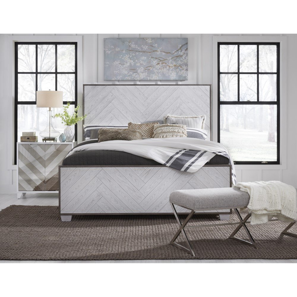 Kathy Ireland Bedroom Furniture Beautiful Pulaski Modern Farmhouse Metal Frame White Wood Queen Bed D192 Br K8
