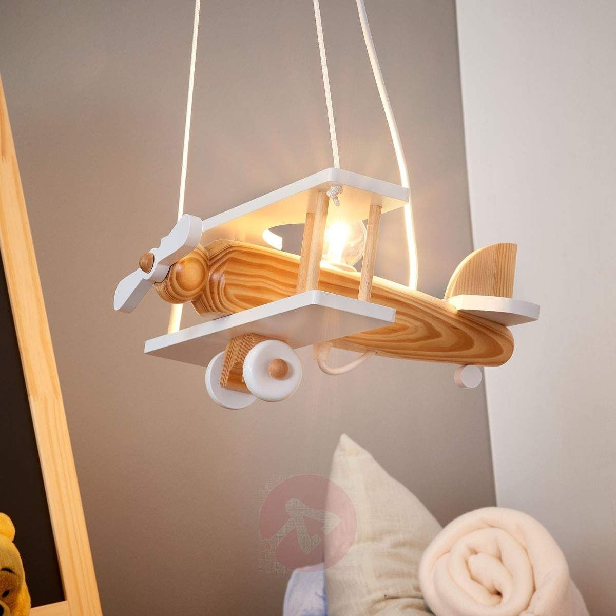 Kids Bedroom Ceiling Light Elegant Wooden Aeroplane Ceiling Light