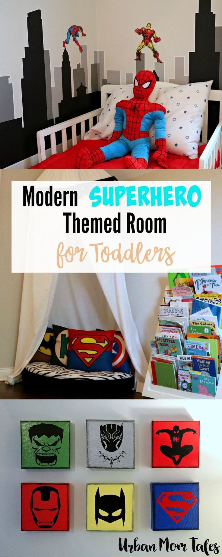 Kids Bedroom for Boy Beautiful Modern Superhero themed Room for toddlers